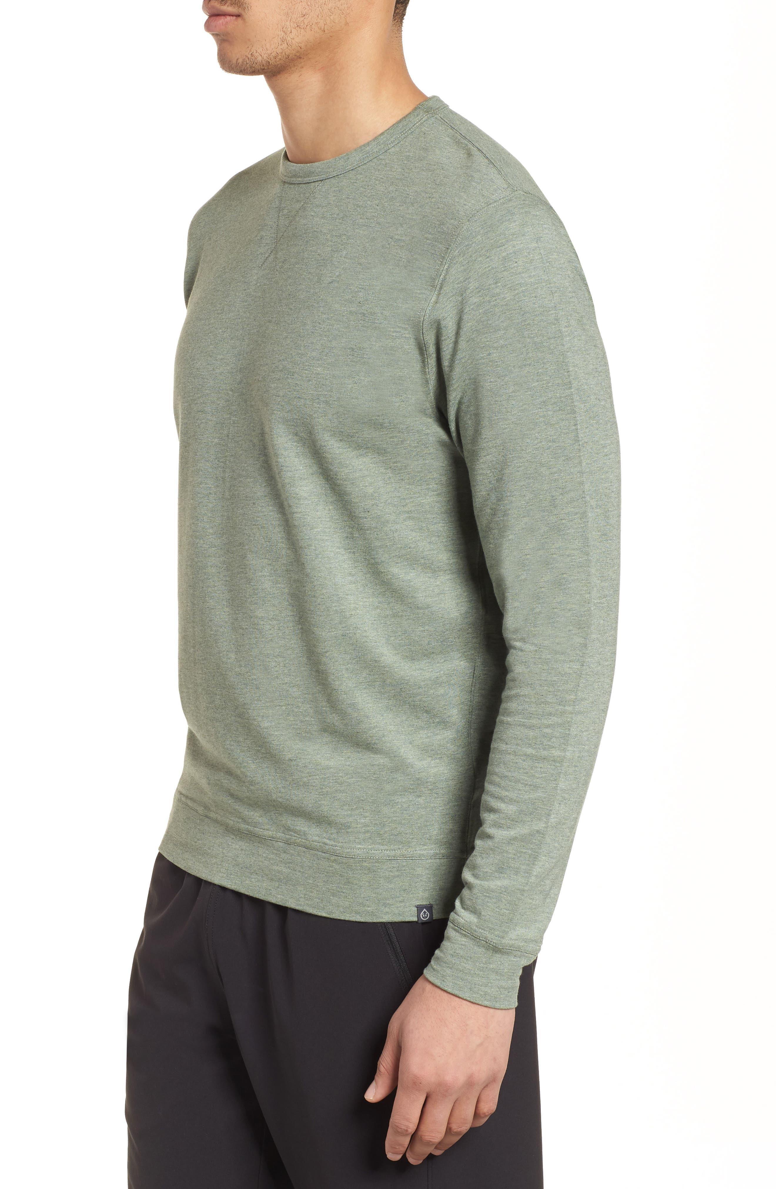 Legacy Crewneck Sweatshirt,                             Alternate thumbnail 3, color,                             Kelp Heather