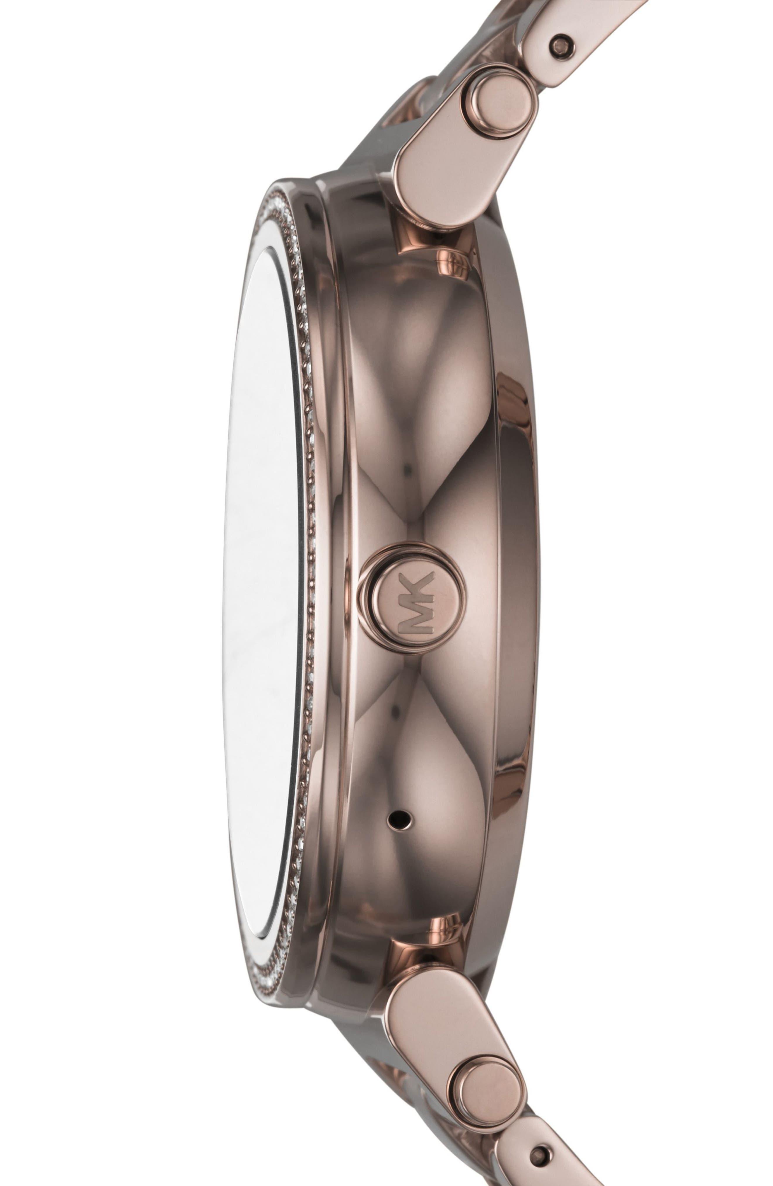 Sofie Smart Bracelet Watch, 42mm,                             Alternate thumbnail 4, color,                             Sable