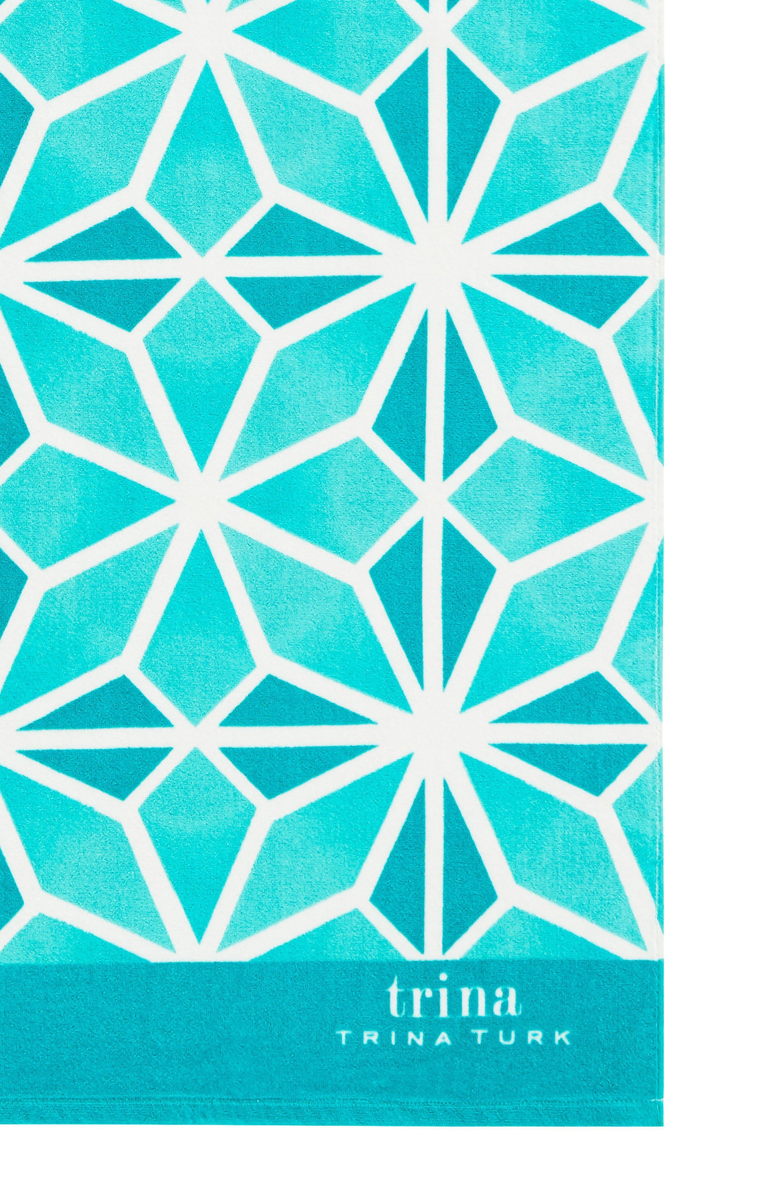 Mojave Beach Towel,                             Alternate thumbnail 2, color,                             Aqua
