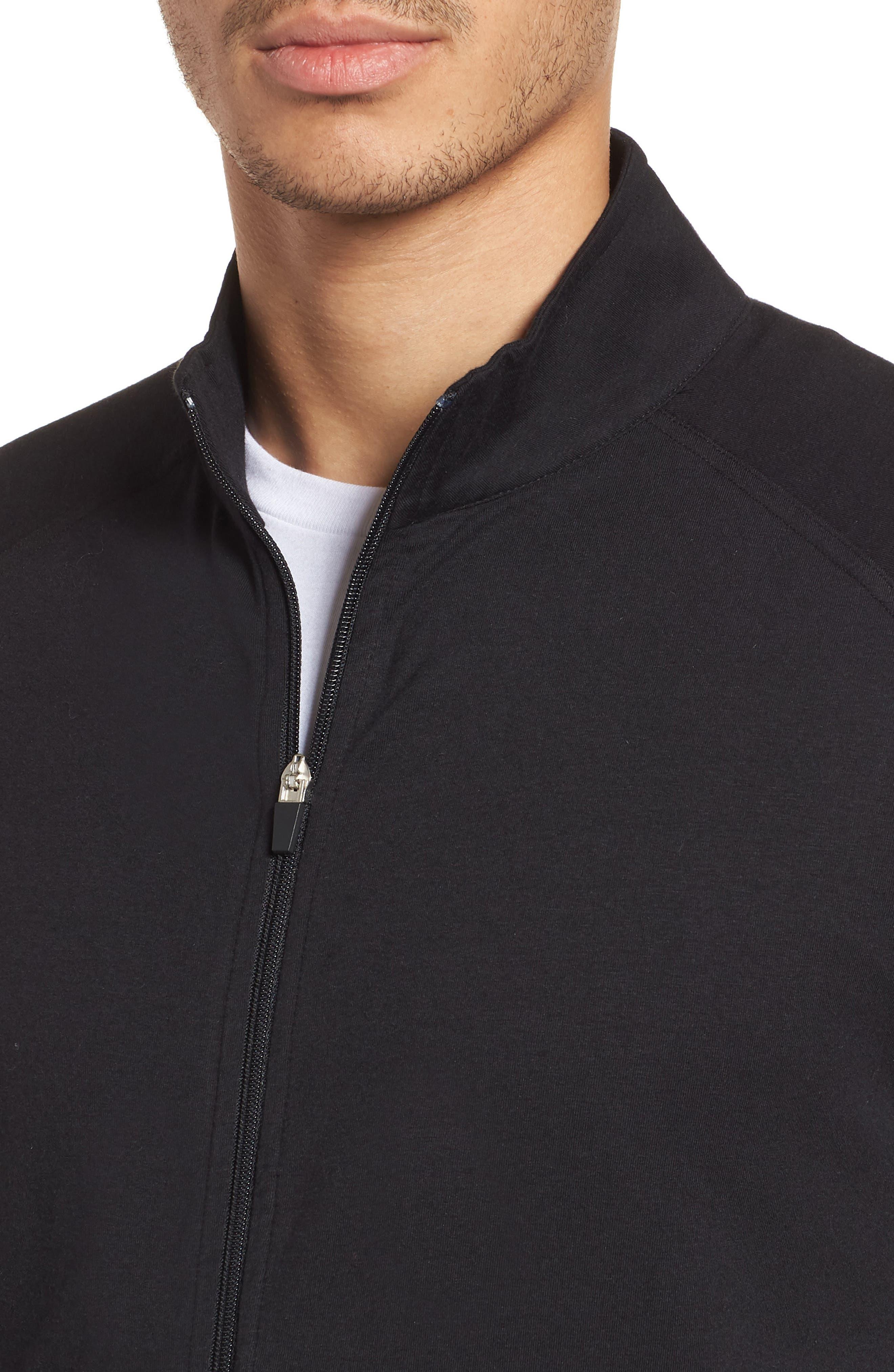 Carrollton Zip Jacket,                             Alternate thumbnail 4, color,                             Black