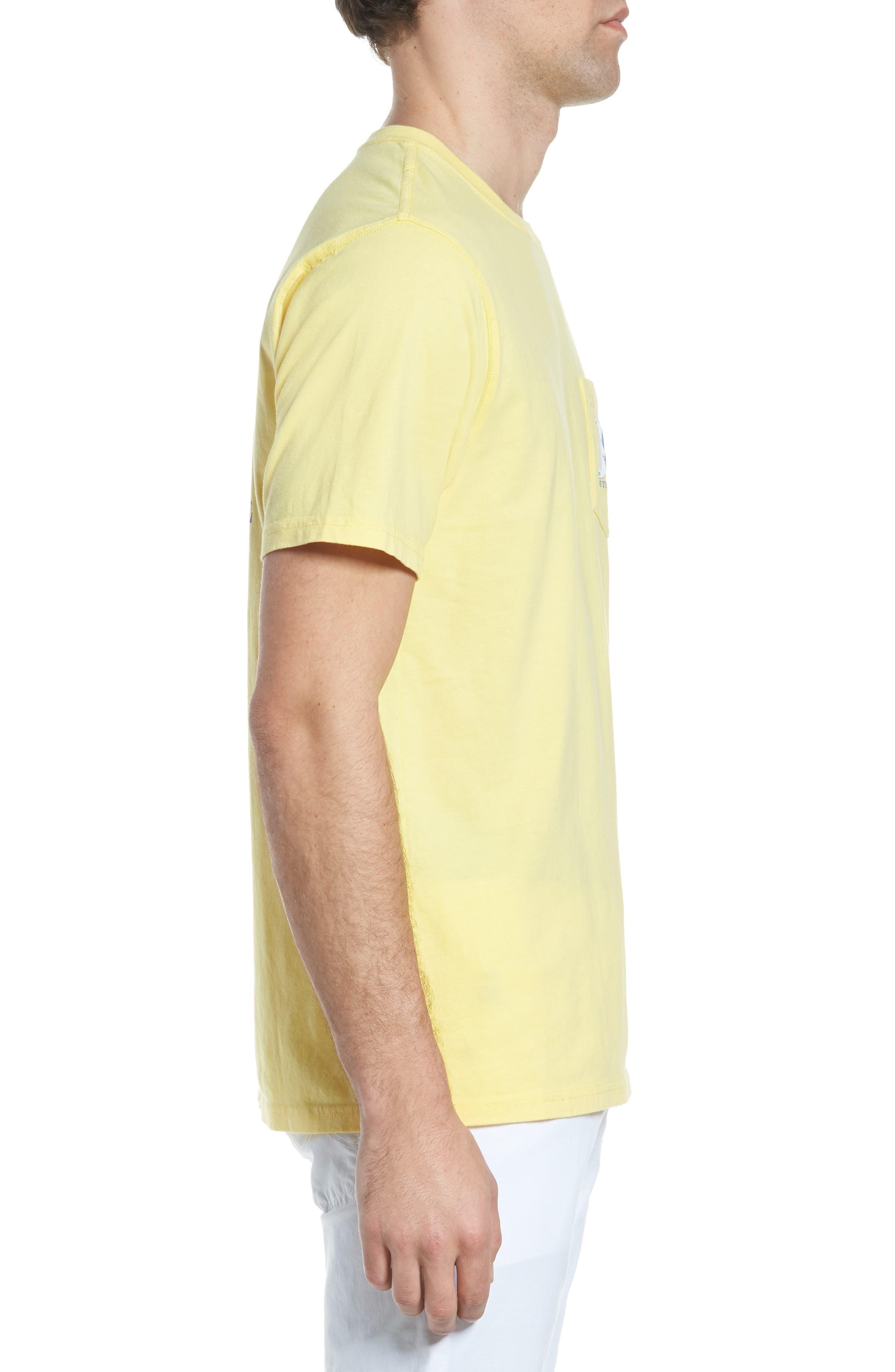 Alpha Up Crewneck T-Shirt,                             Alternate thumbnail 3, color,                             Sunshine
