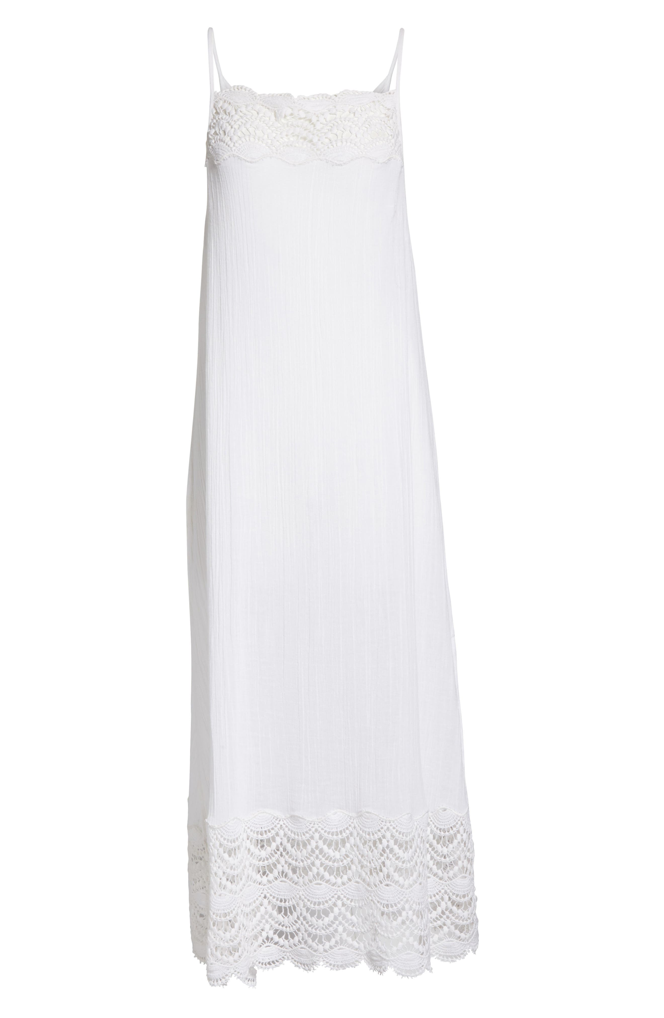 Abbie Crinkle Maxi Dress,                             Alternate thumbnail 6, color,                             Ivory