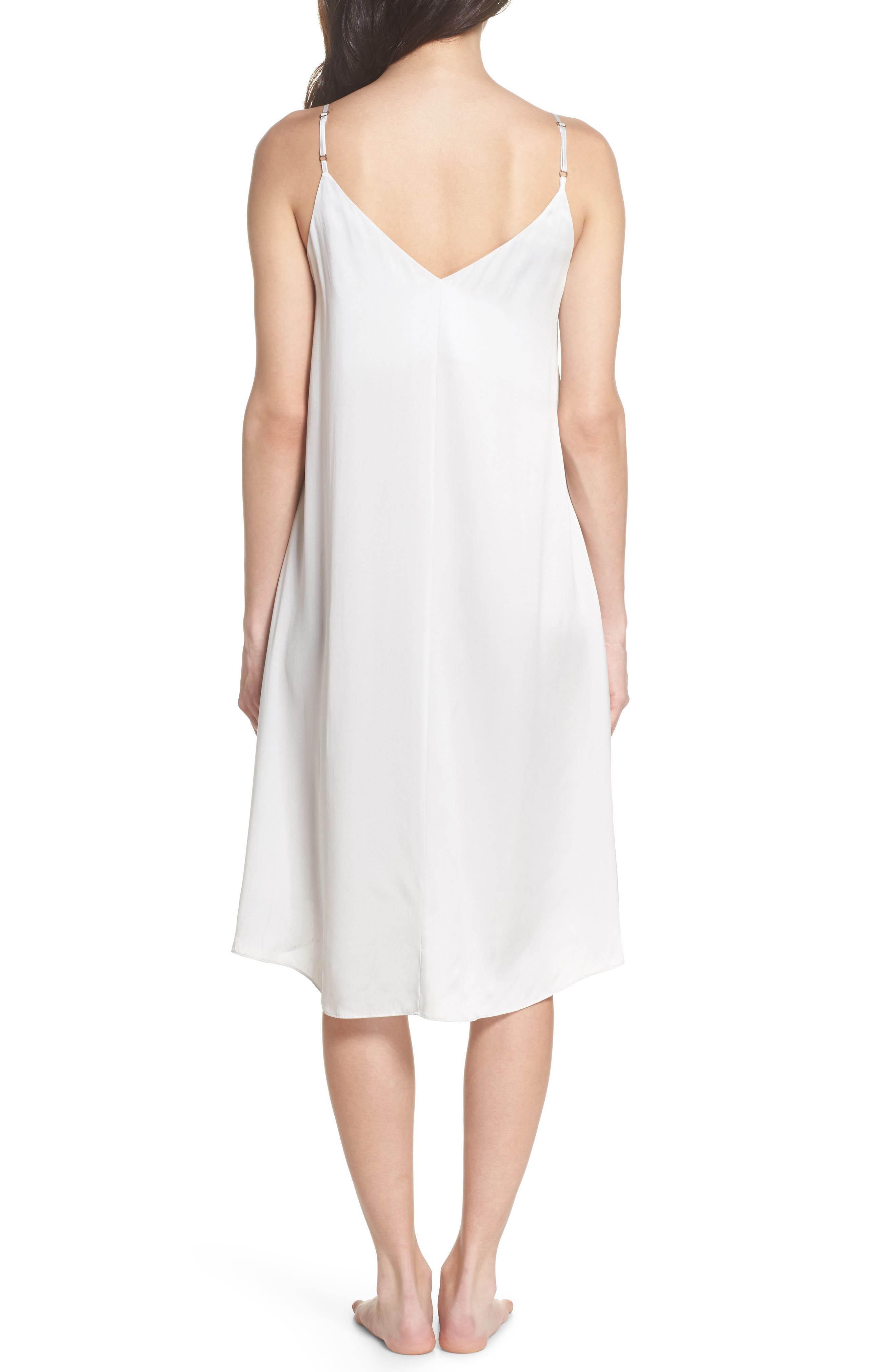 Silk Nightgown,                             Alternate thumbnail 2, color,                             Ice Grey