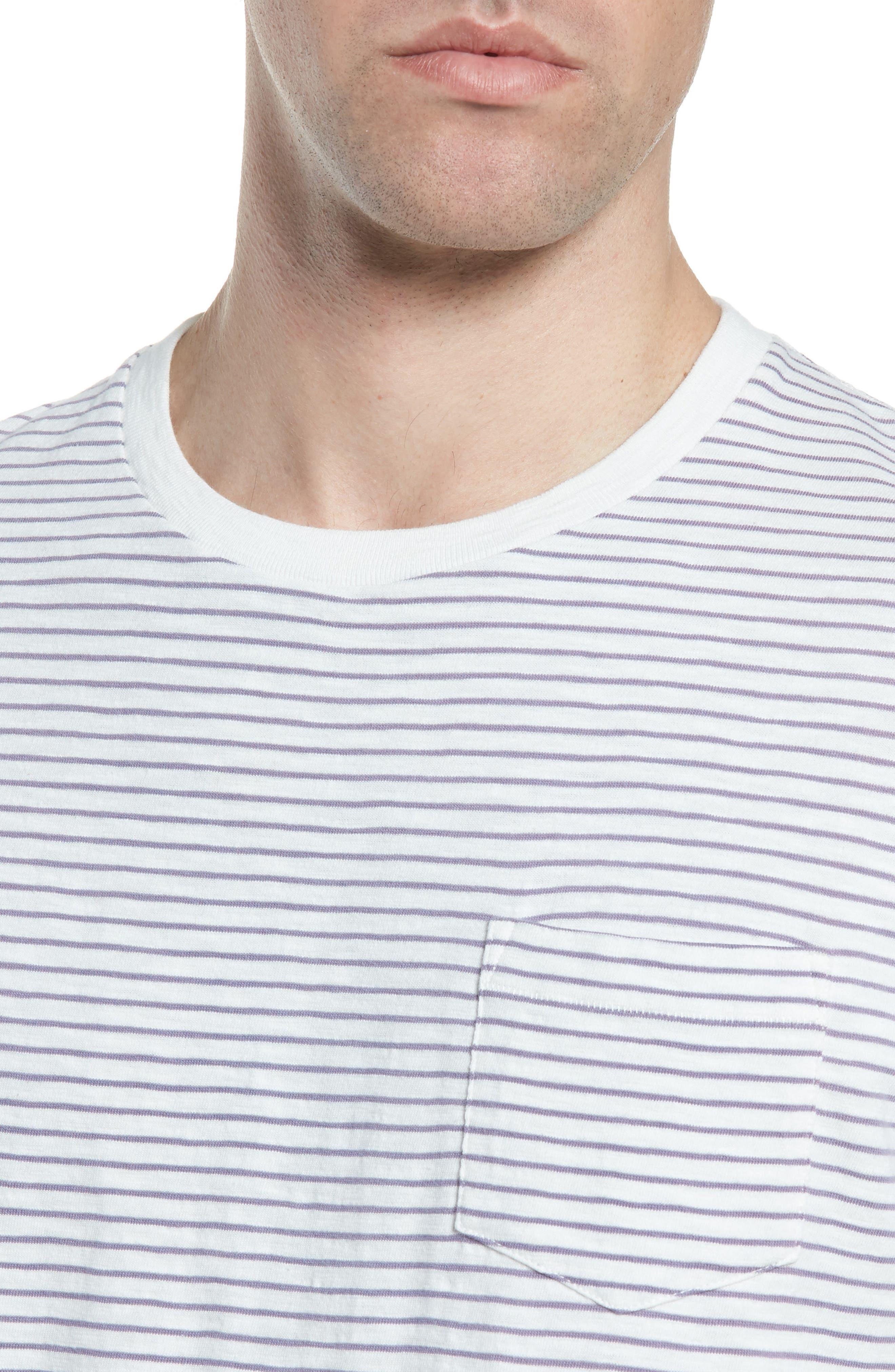 Malaga Cove Stripe T-Shirt,                             Alternate thumbnail 4, color,                             Antique White