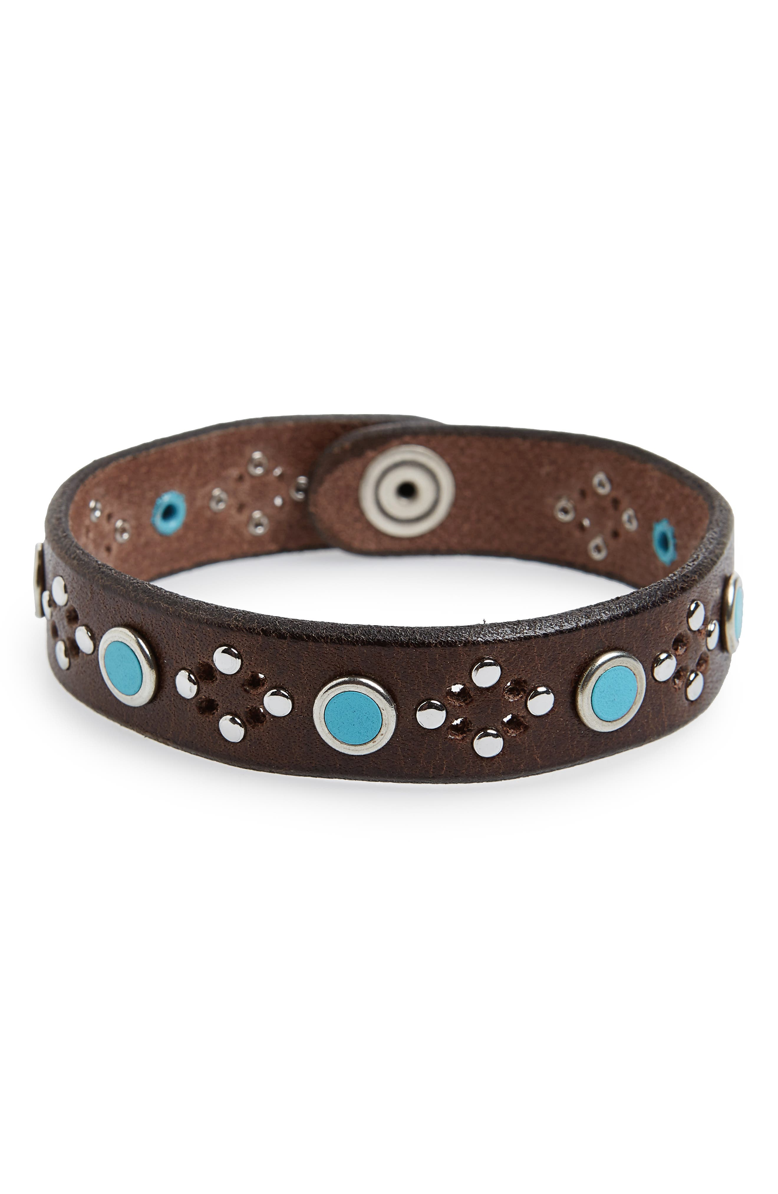 Wax Studded Bracelet,                         Main,                         color, T. Moro