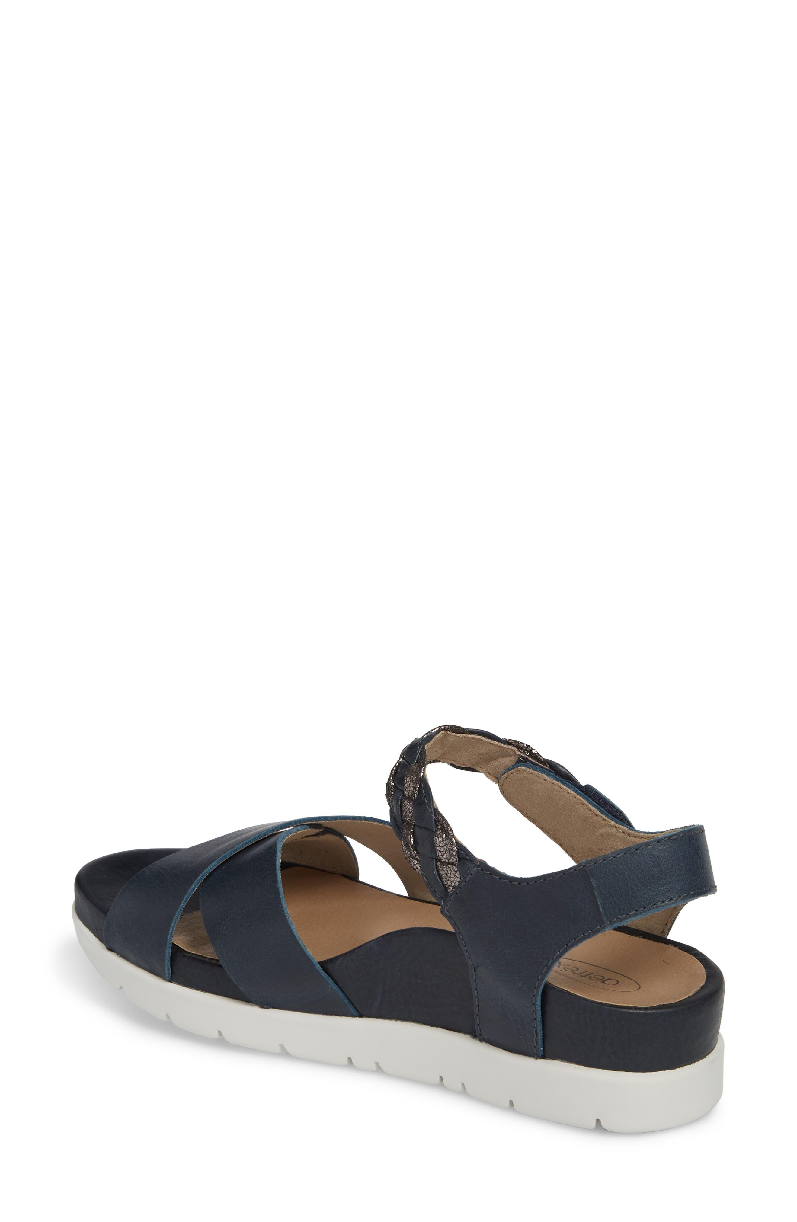 Piper Sandal,                             Alternate thumbnail 2, color,                             Navy Leather