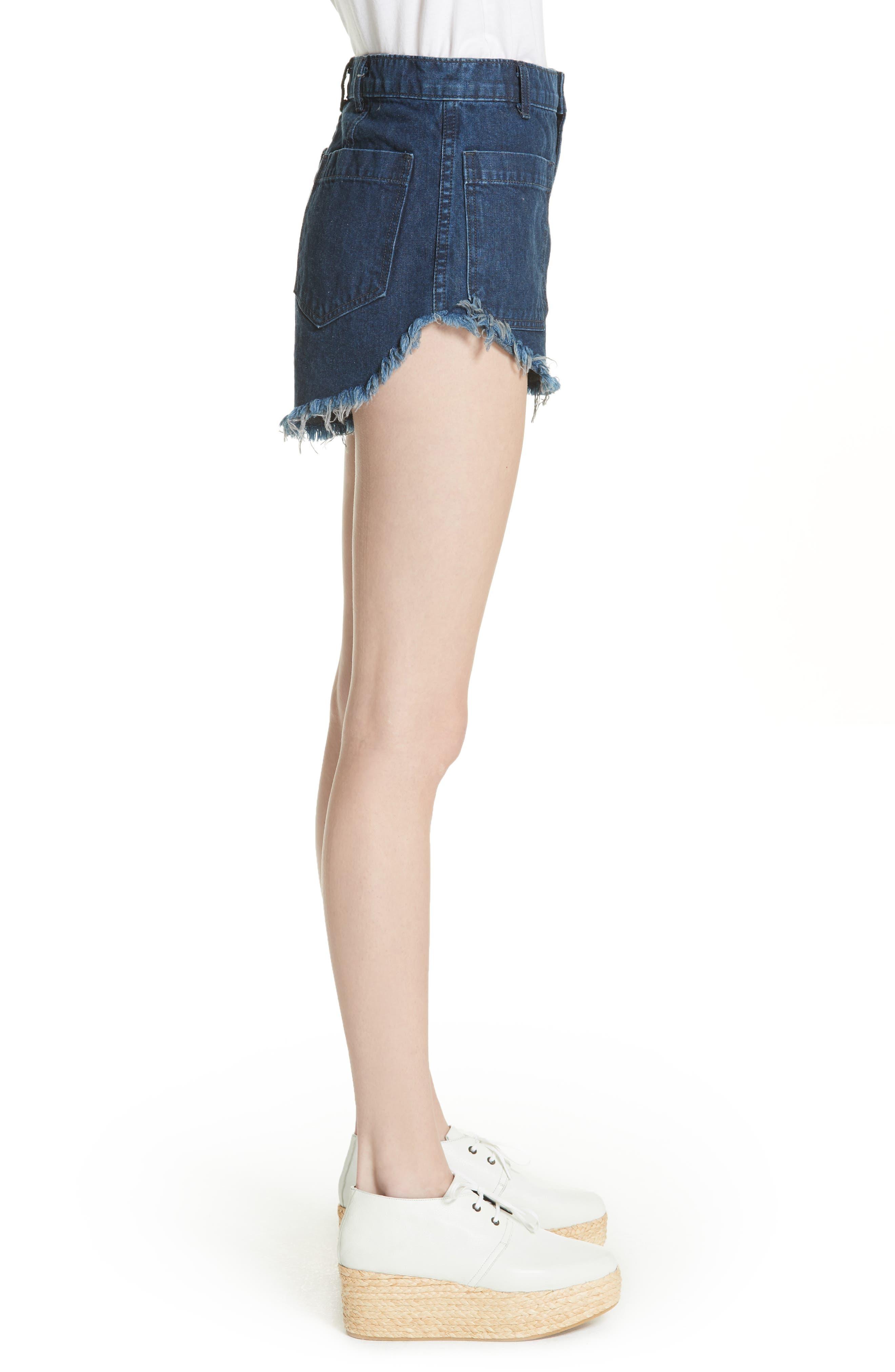 Sailor Denim Shorts,                             Alternate thumbnail 3, color,                             Ultra Marine Wash