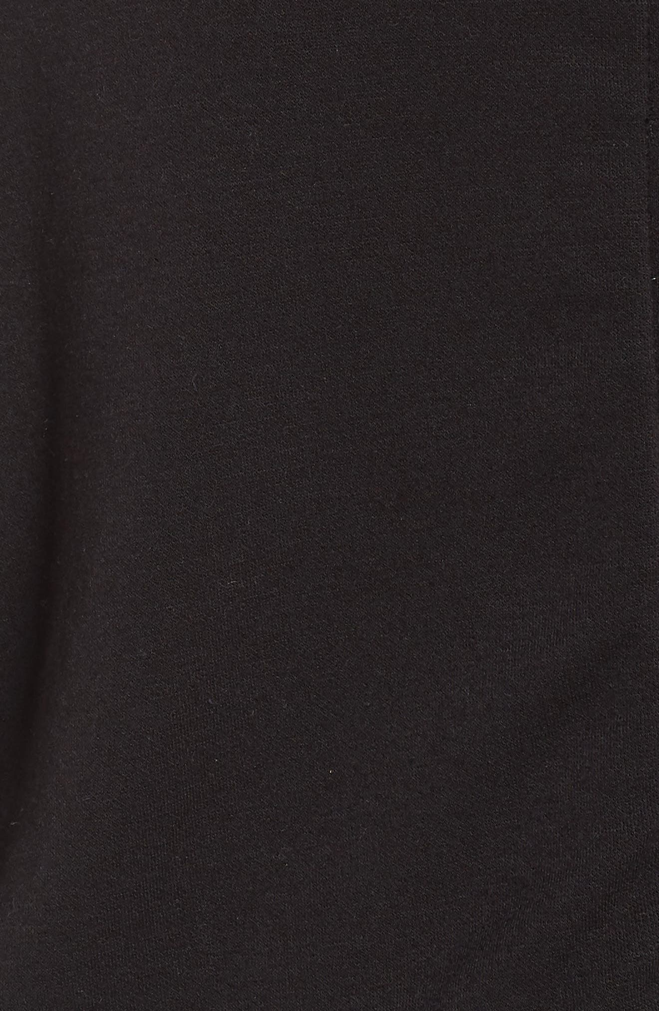 Sullivan Zip Hoodie,                             Alternate thumbnail 6, color,                             Black