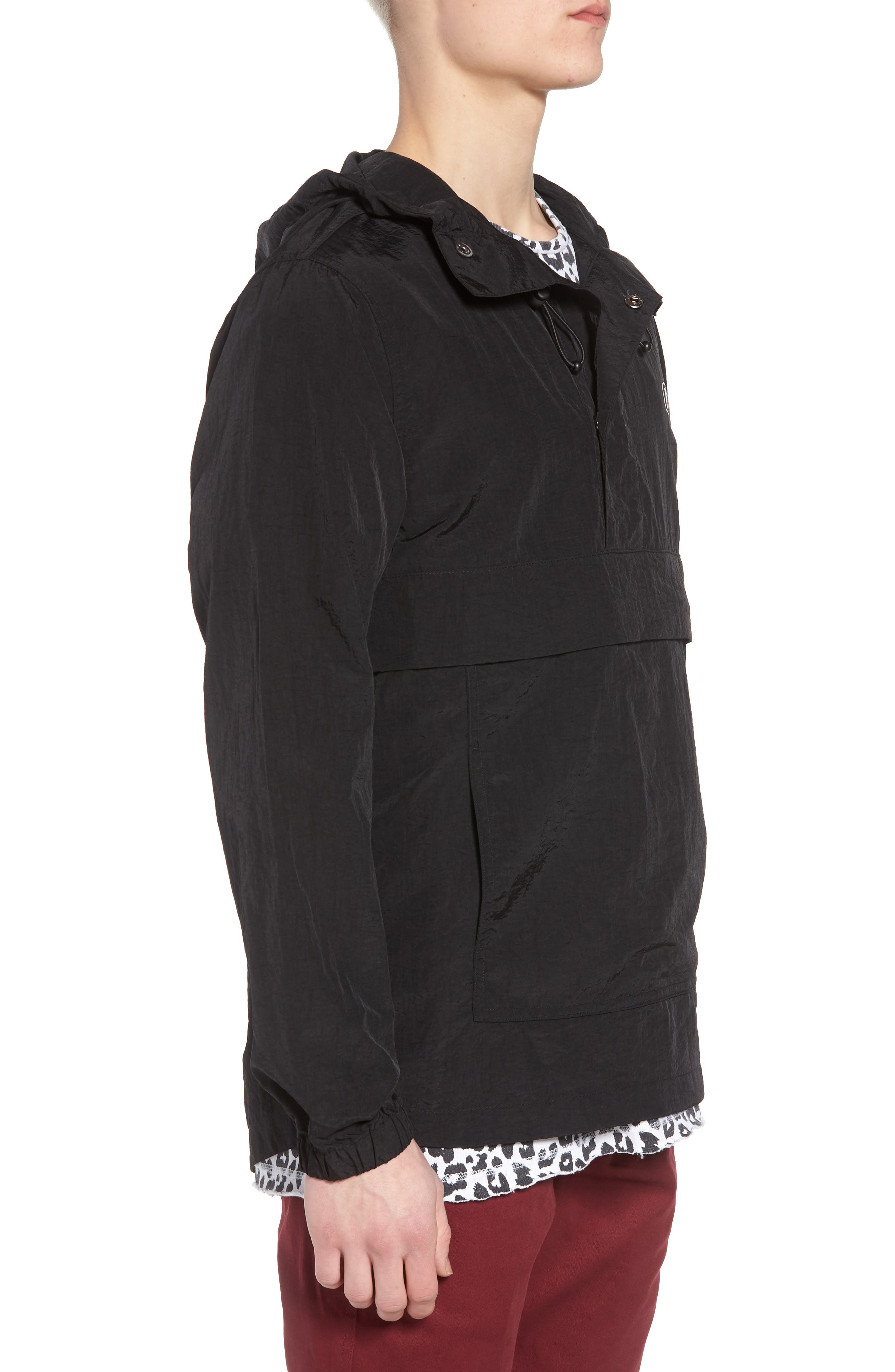 Tillman Packable Anorak Jacket,                             Alternate thumbnail 3, color,                             Black