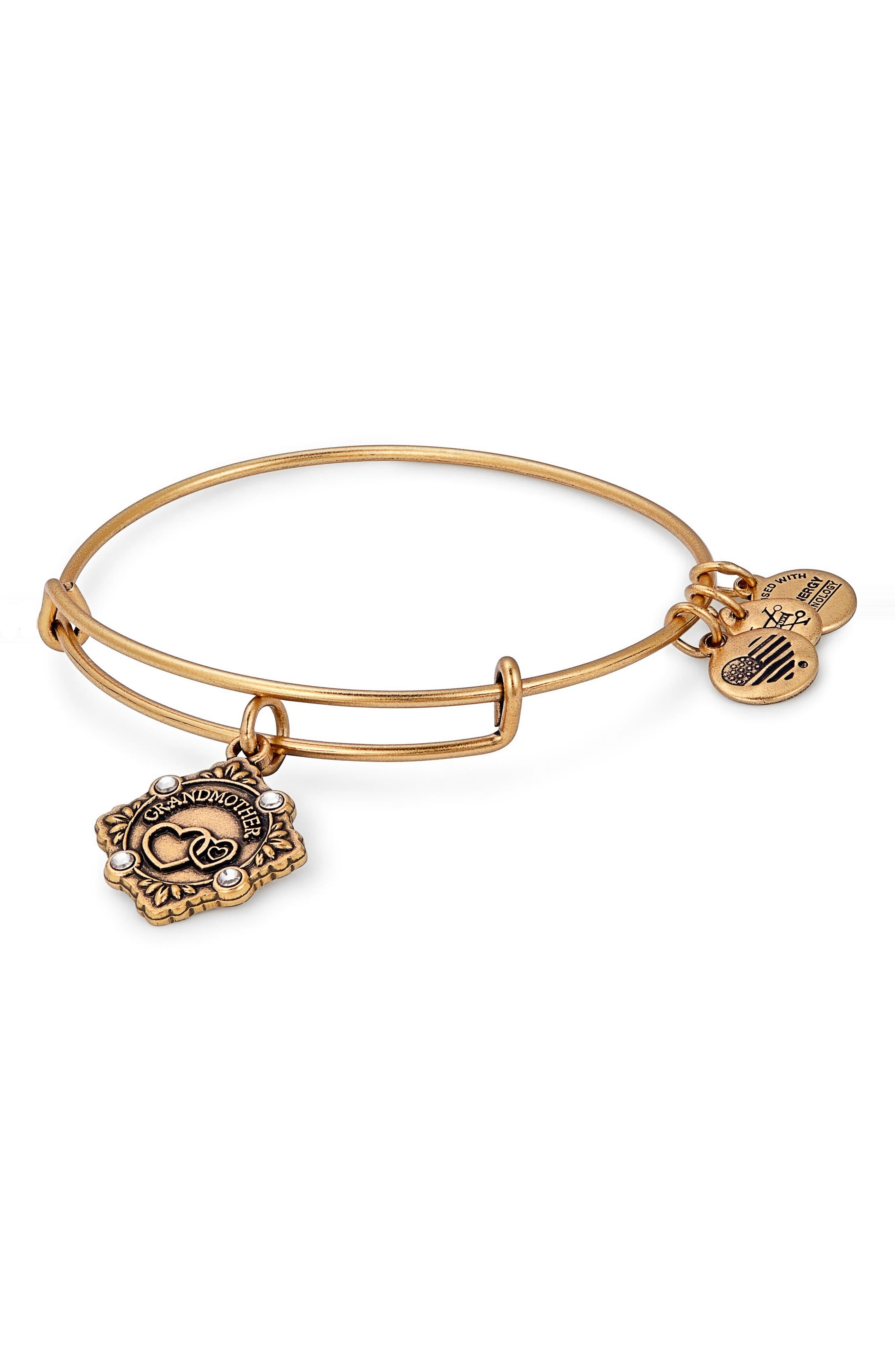 Because I Love You Grandmother Charm Bangle,                         Main,                         color, Gold