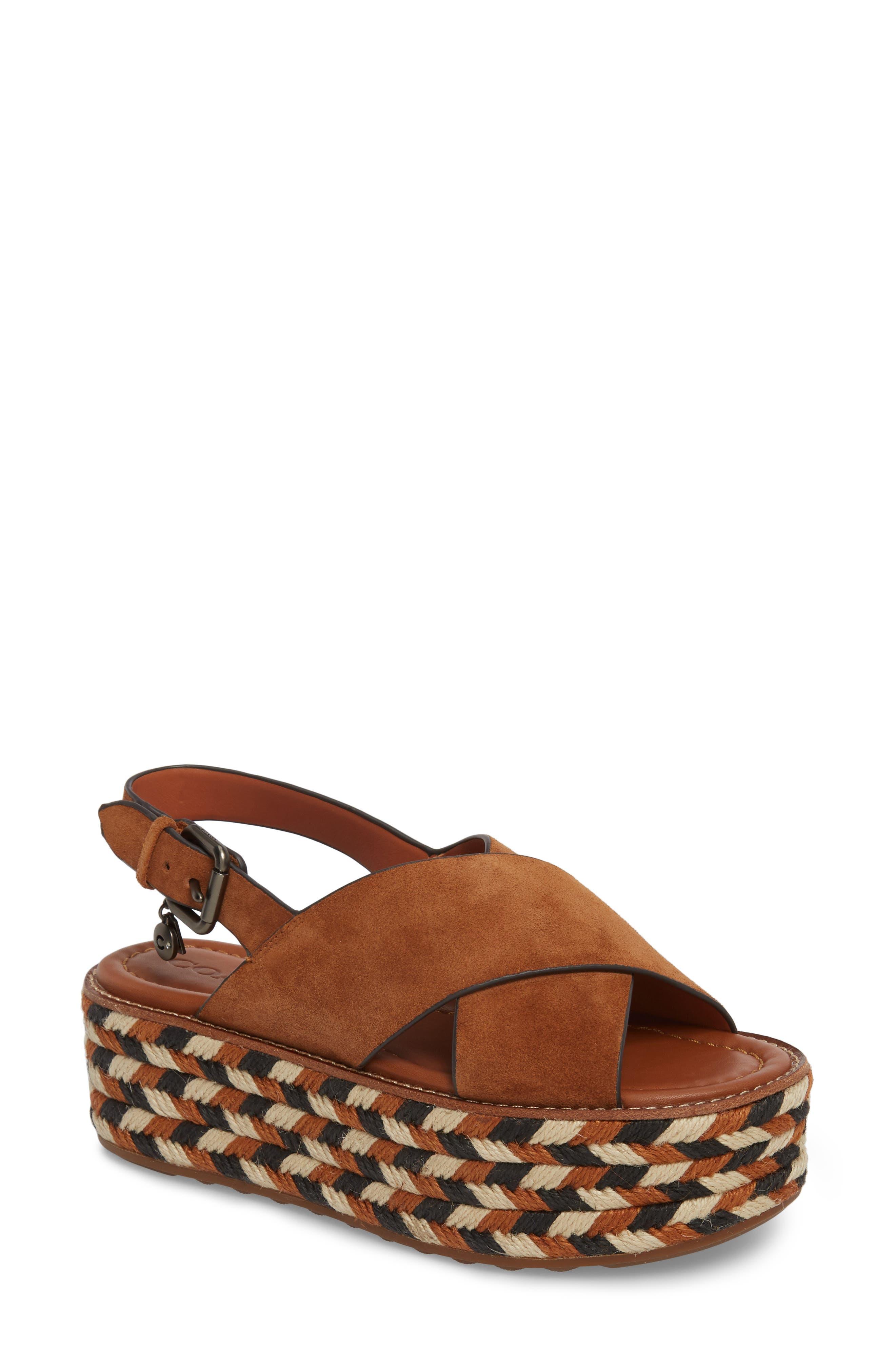 COACH Platform Wedge Sandal (Women)