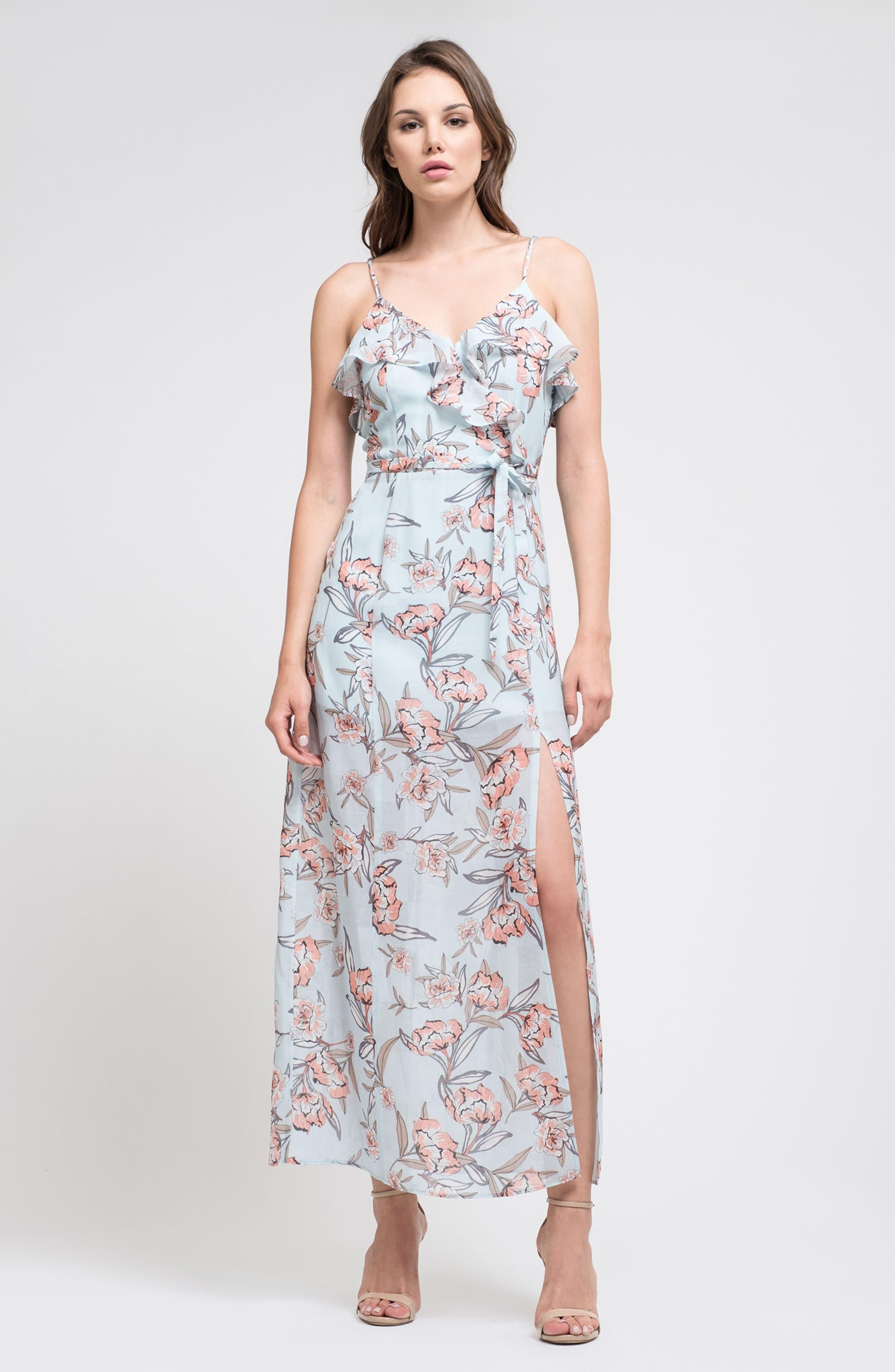 Alternate Image 2  - J.O.A. Ruffle Maxi Dress