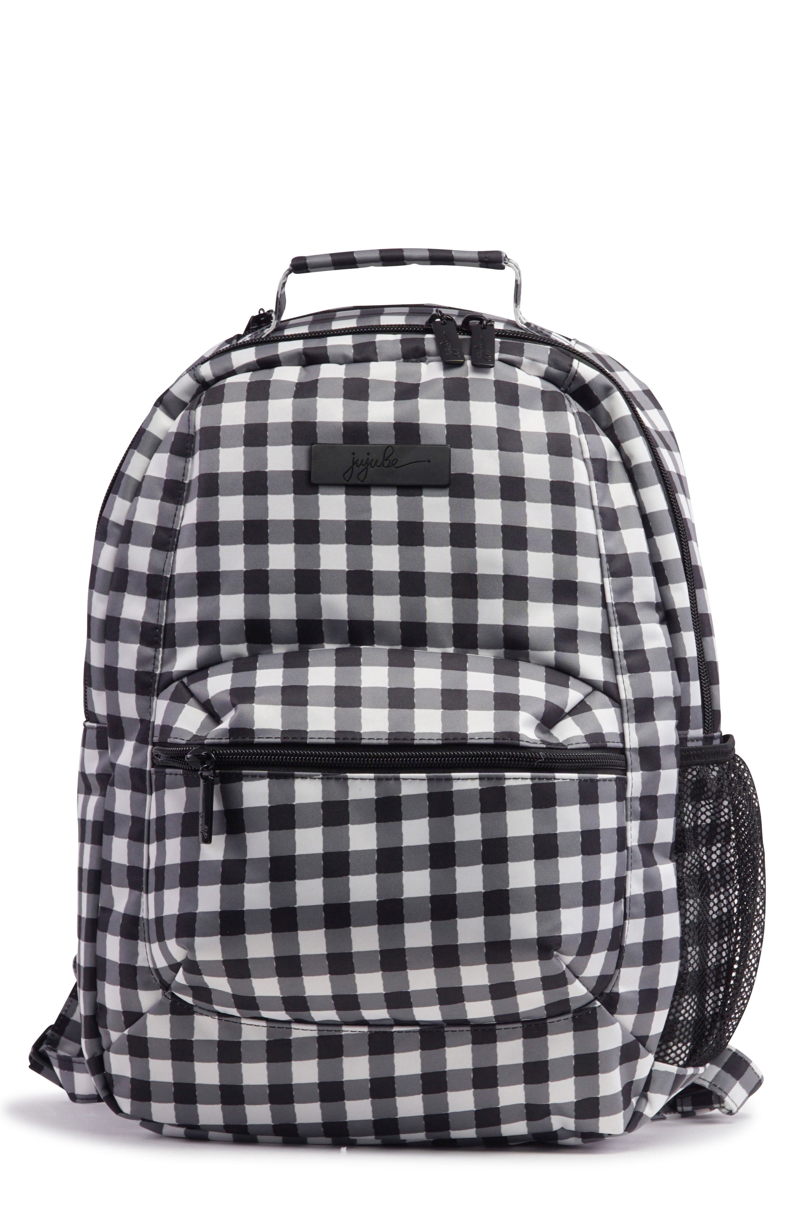 Onyx Be Packed Diaper Backpack,                             Main thumbnail 1, color,                             Gingham Style
