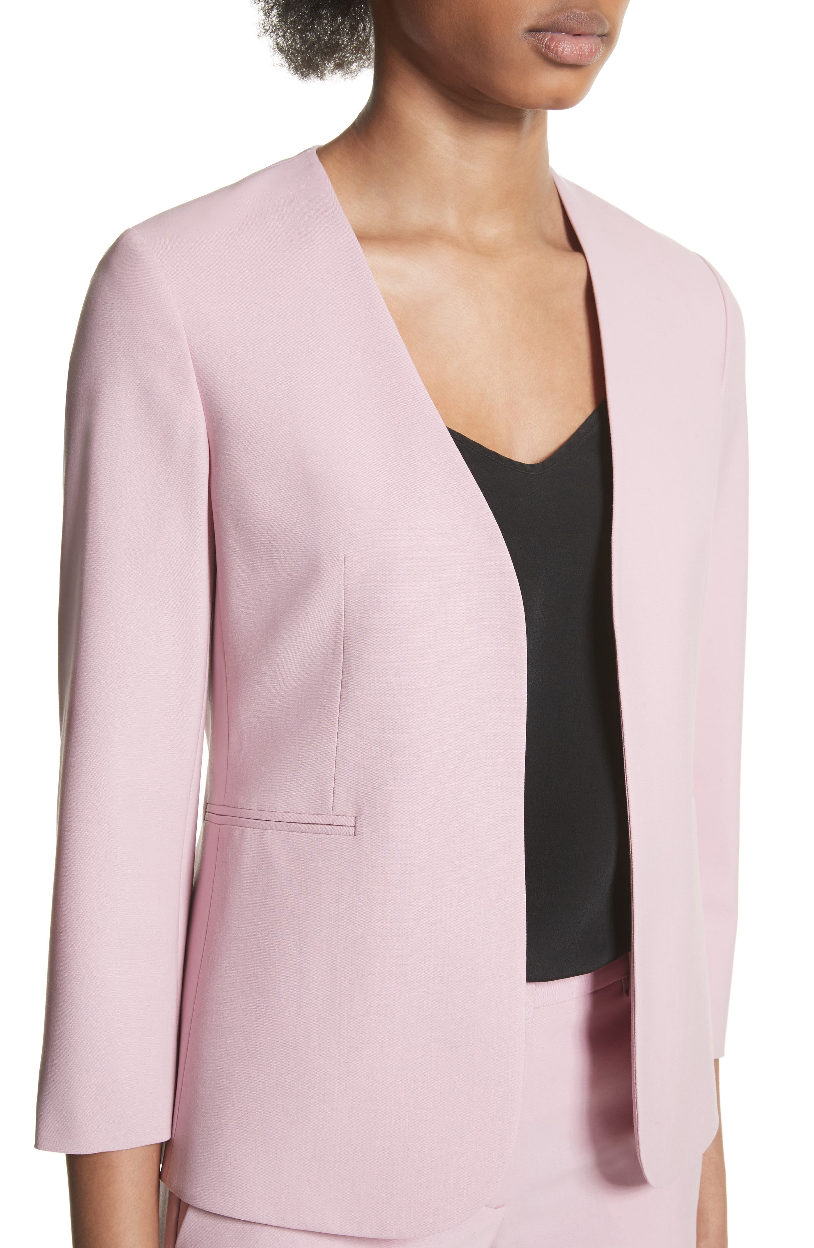 Lindrayia B Good Wool Suit Jacket,                             Alternate thumbnail 4, color,                             Berry Tint