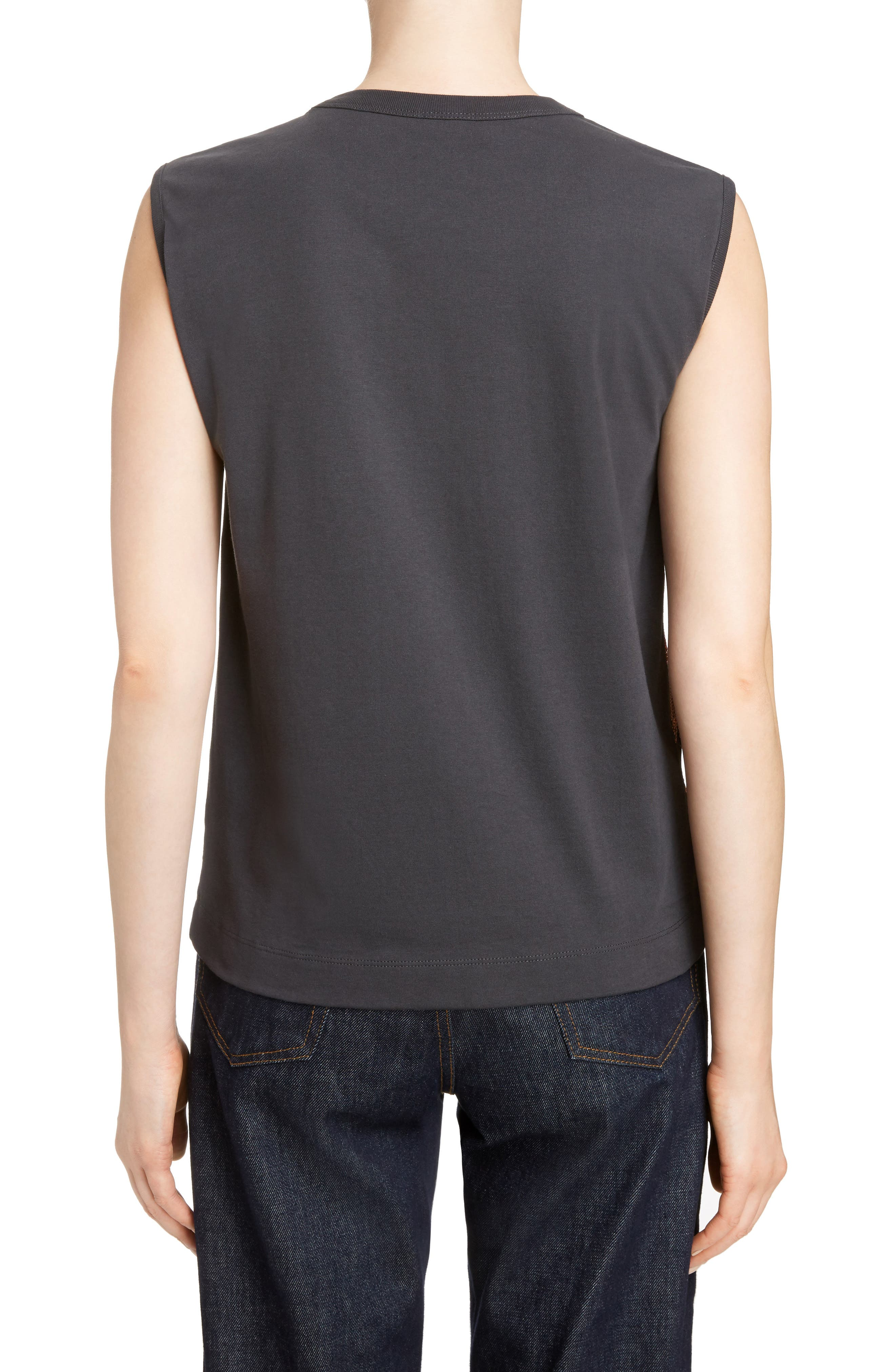 Sequin Sleeveless Tee,                             Alternate thumbnail 2, color,                             Anthracite