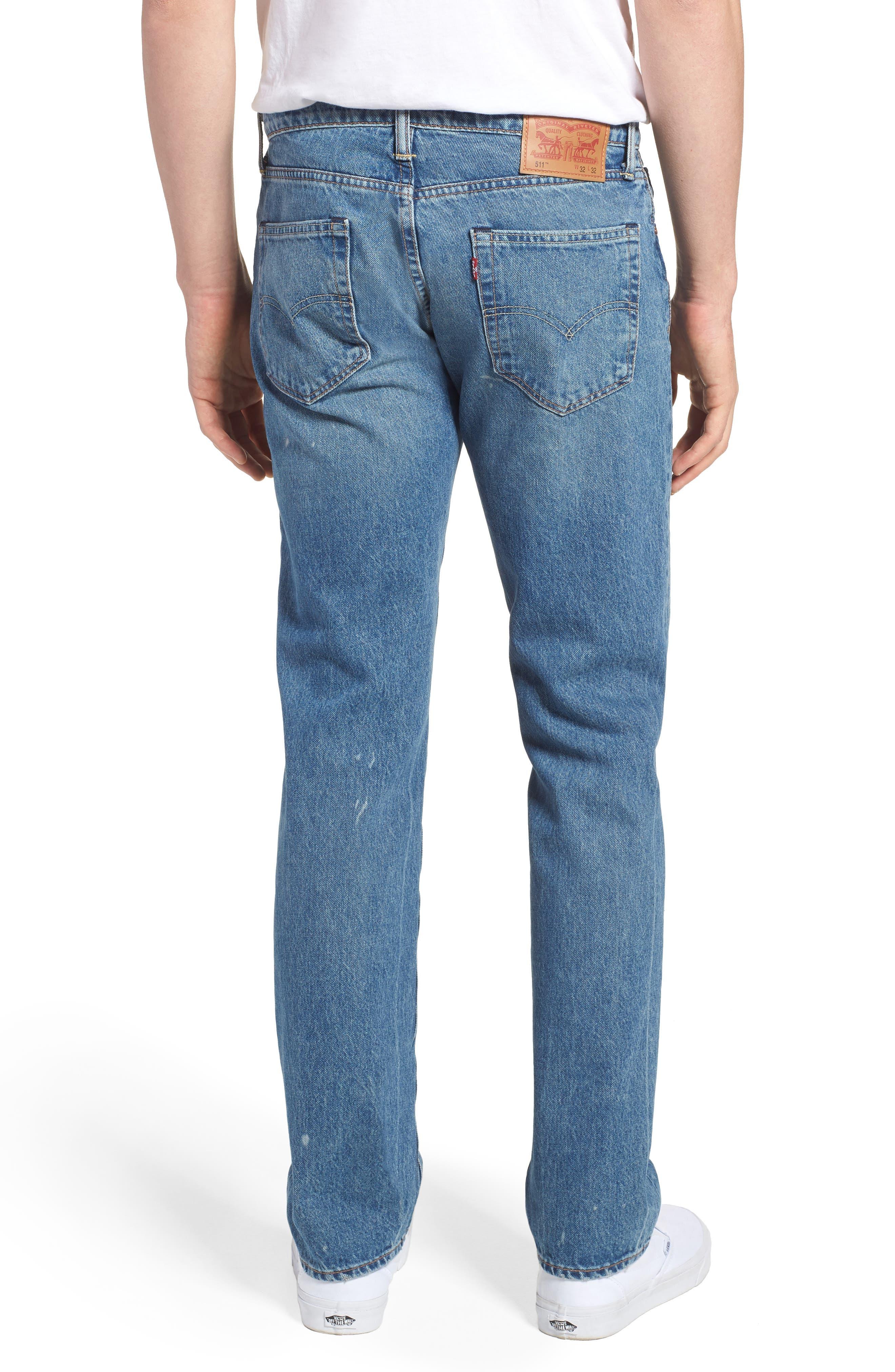 Alternate Image 2  - Levi's® 511™ Slim Fit Jeans (E Block)