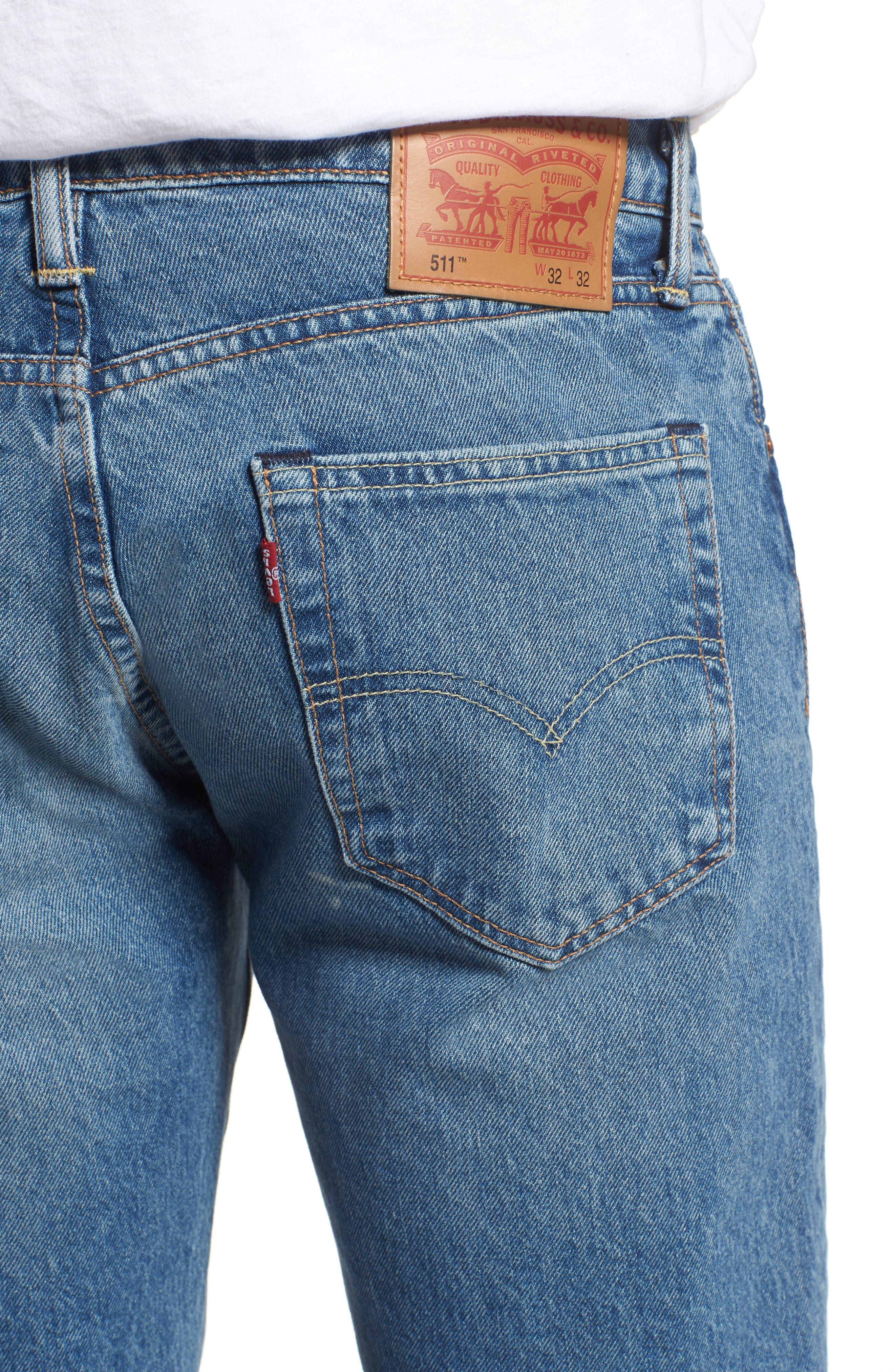Alternate Image 4  - Levi's® 511™ Slim Fit Jeans (E Block)