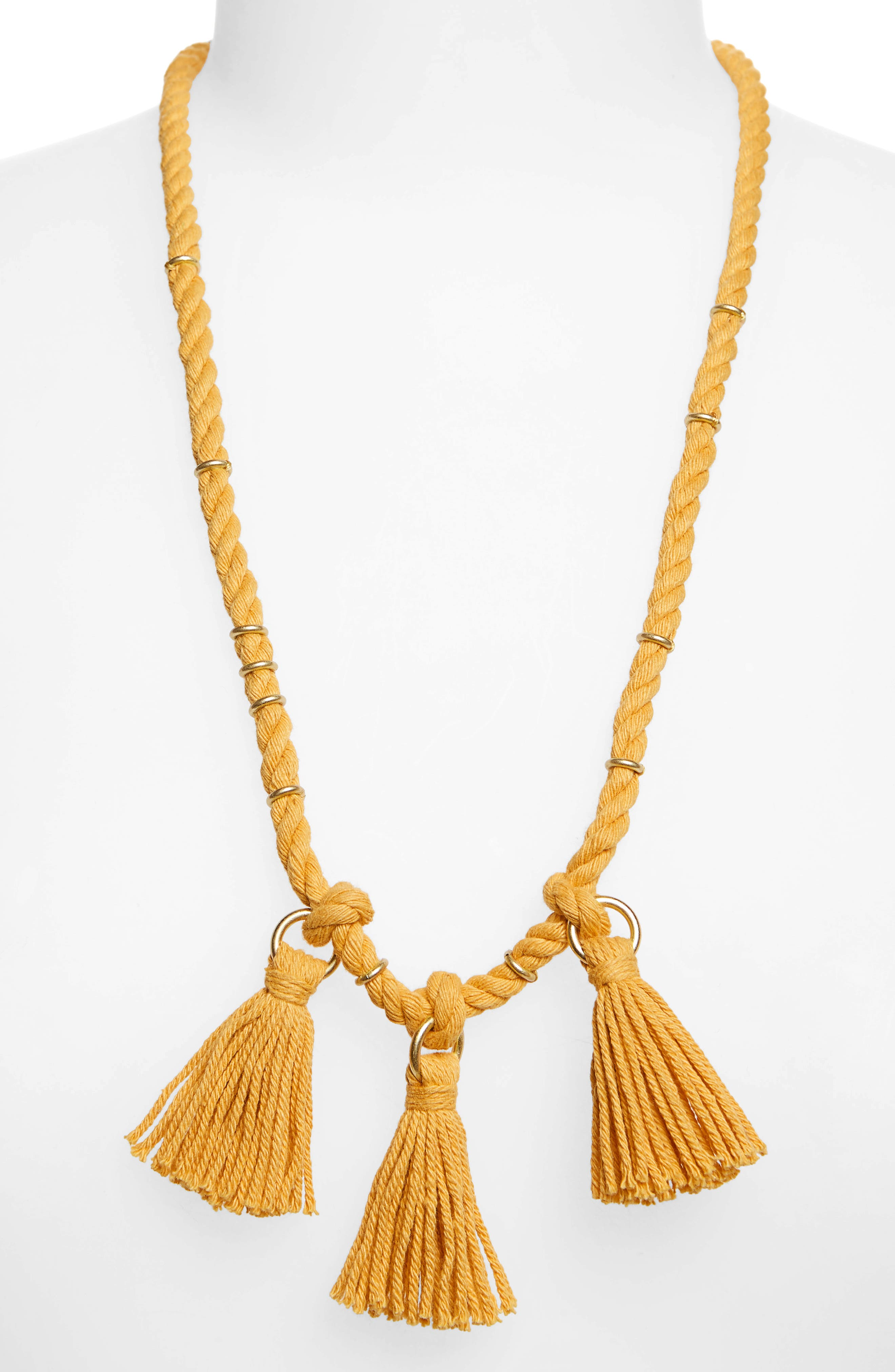 Rope & Tassel Necklace,                         Main,                         color, Nectar Gold