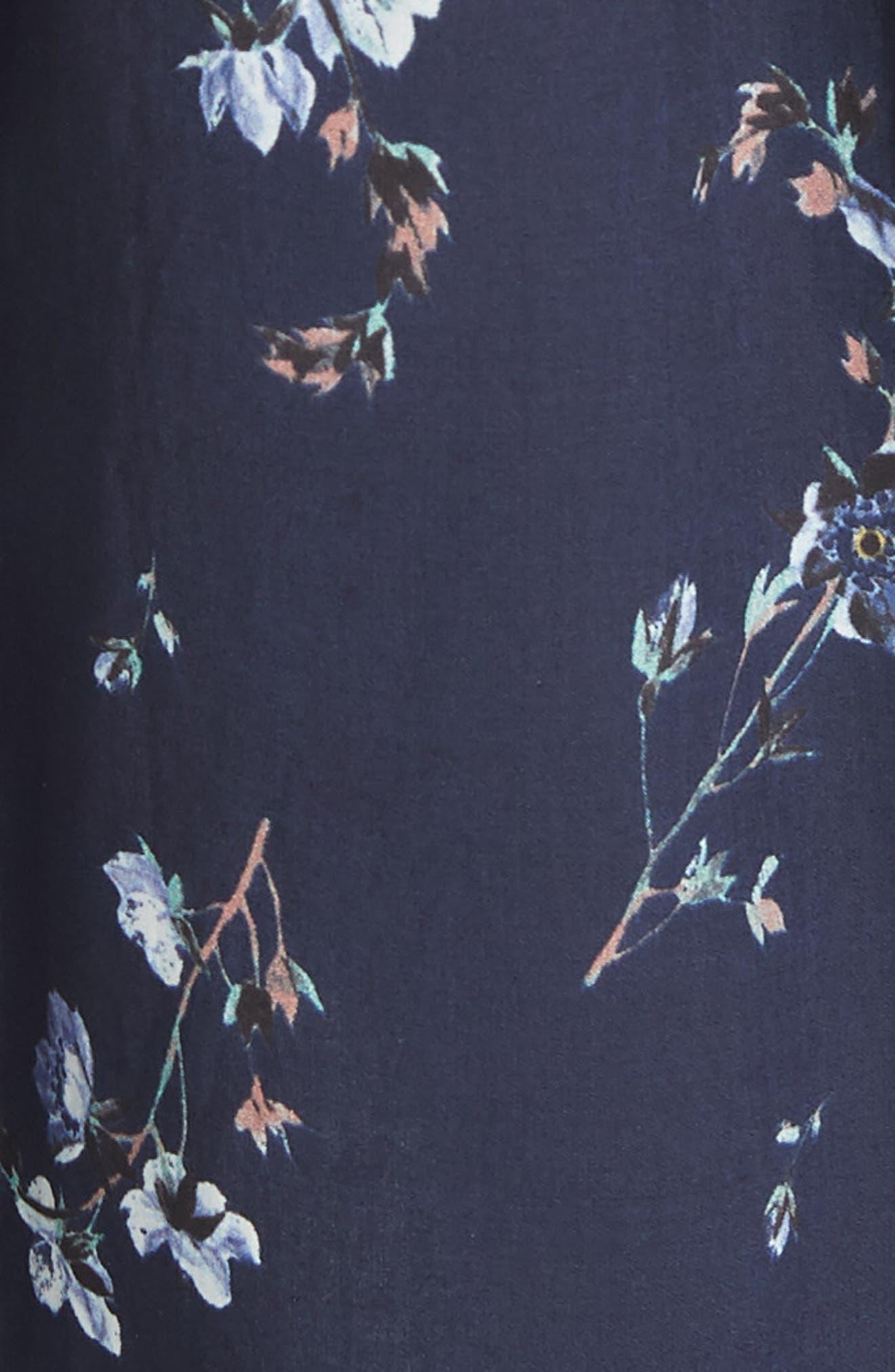 Francine Cold Shoulder Dress,                             Alternate thumbnail 6, color,                             Navy Combo