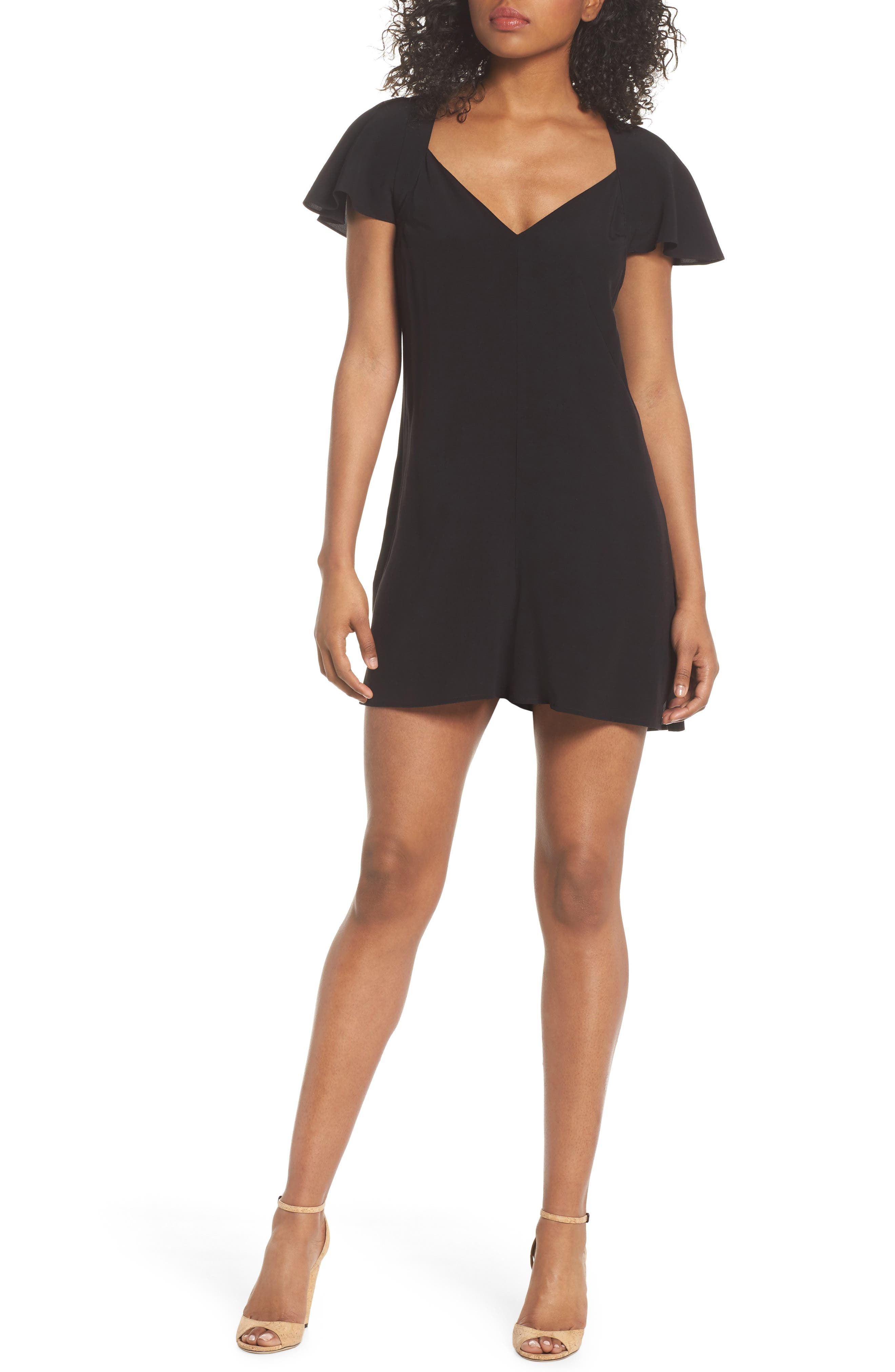Alternate Image 1 Selected - French Connection Kozani Drape Romper