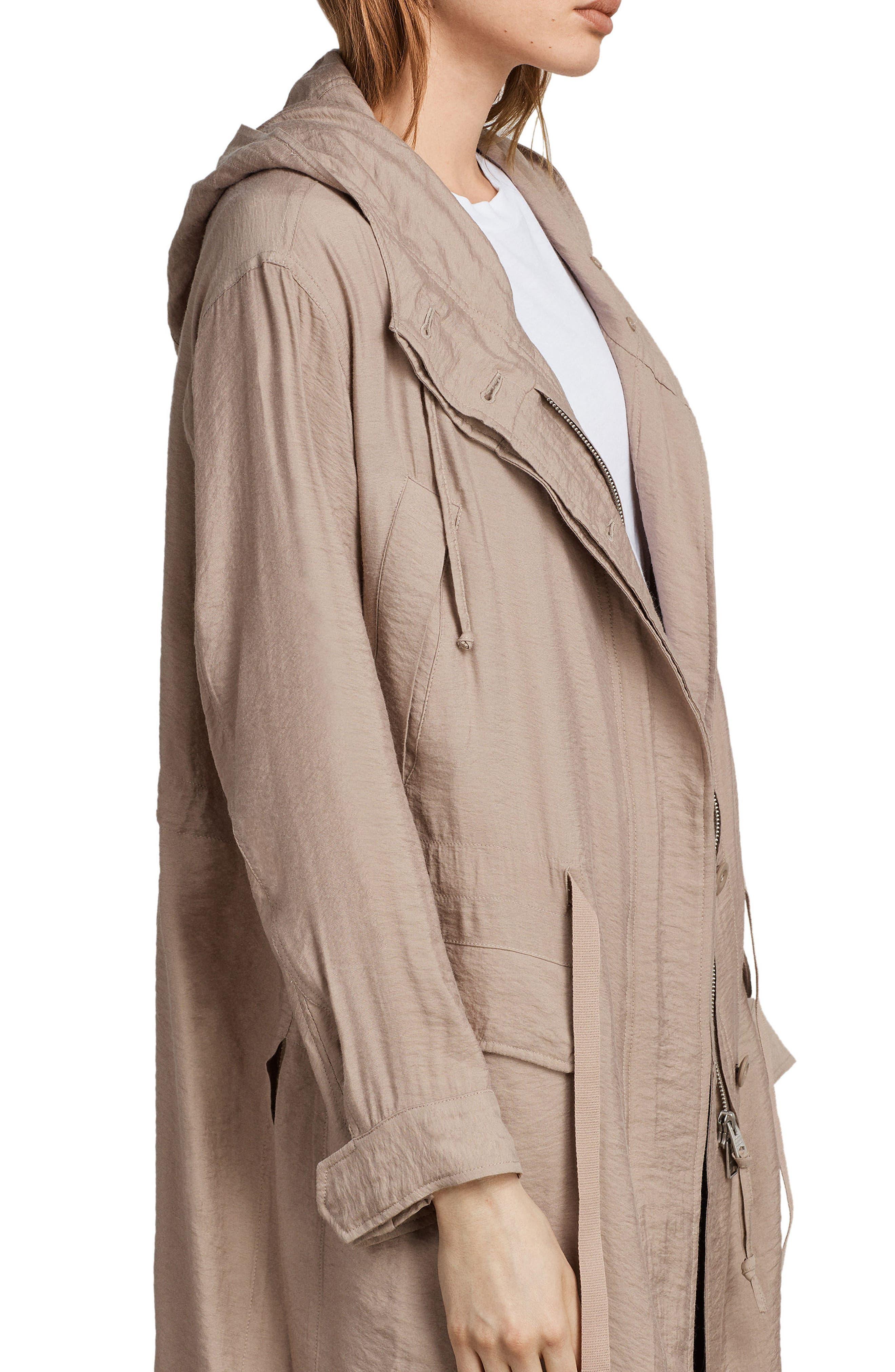 Kinsley Hooded Jacket,                             Alternate thumbnail 3, color,                             Dusty Pink