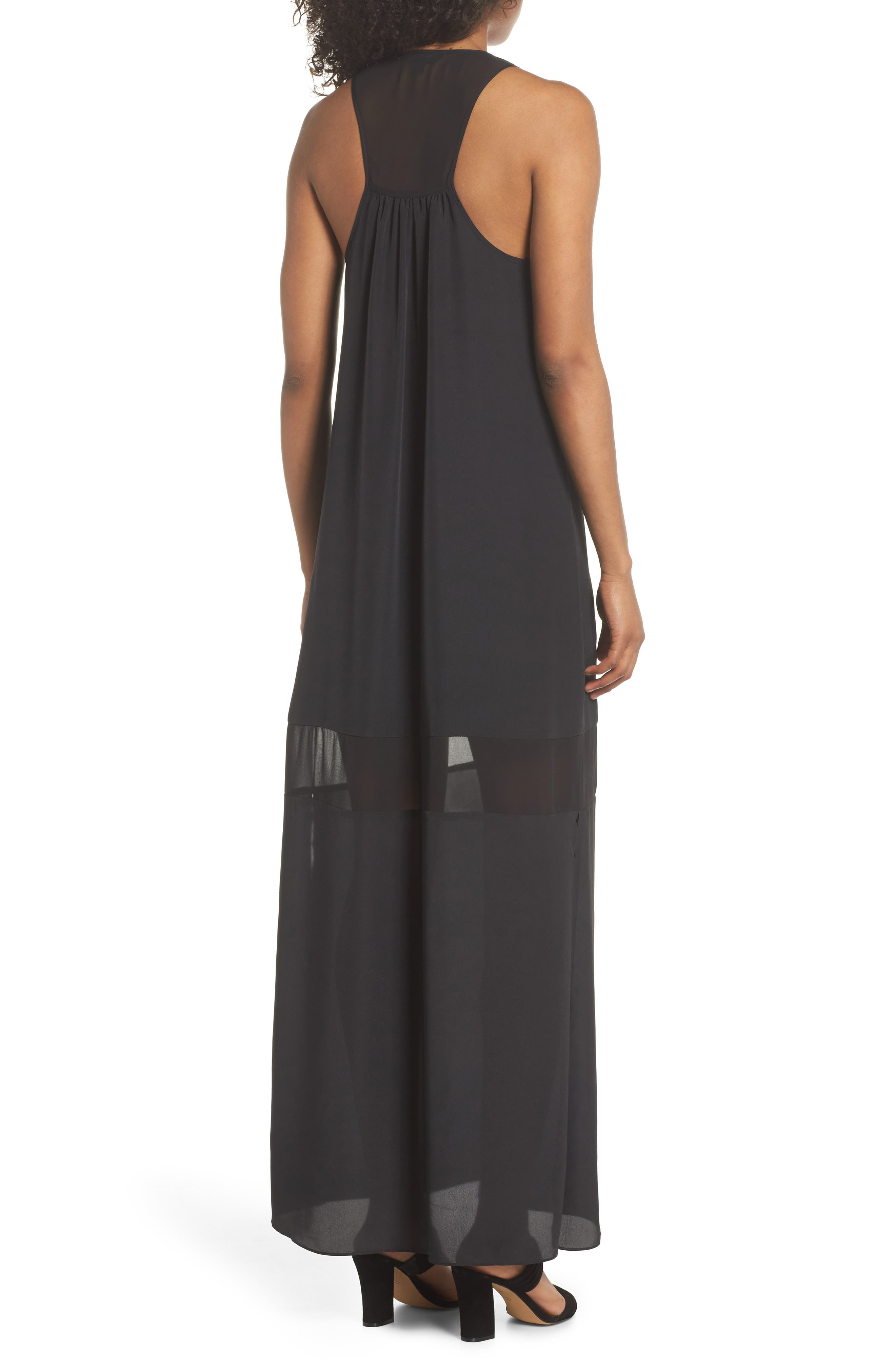 Hampton Maxi Dress,                             Alternate thumbnail 2, color,                             Black