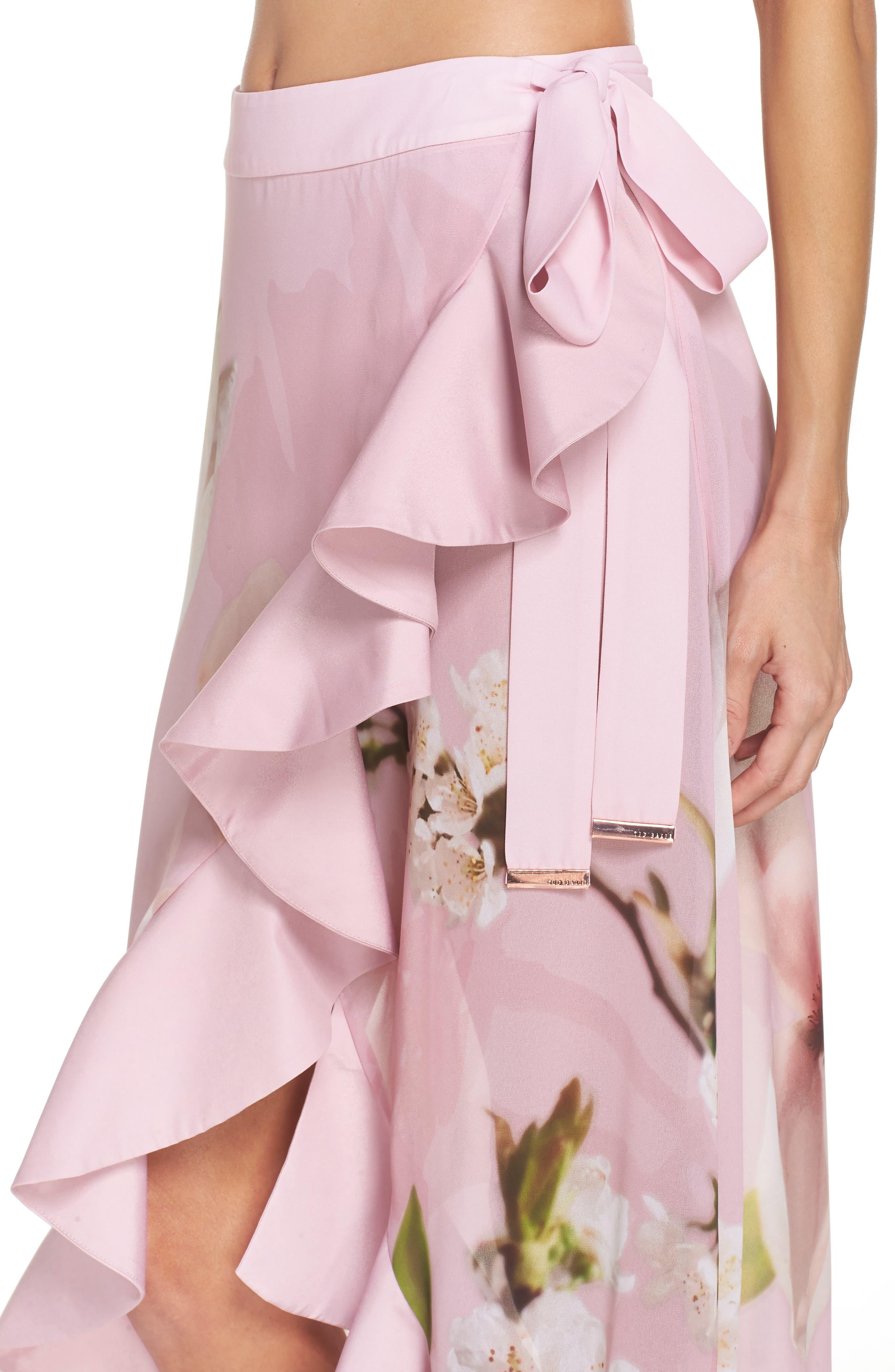 Harmony Cover-Up Skirt,                             Alternate thumbnail 4, color,                             Dusky Pink