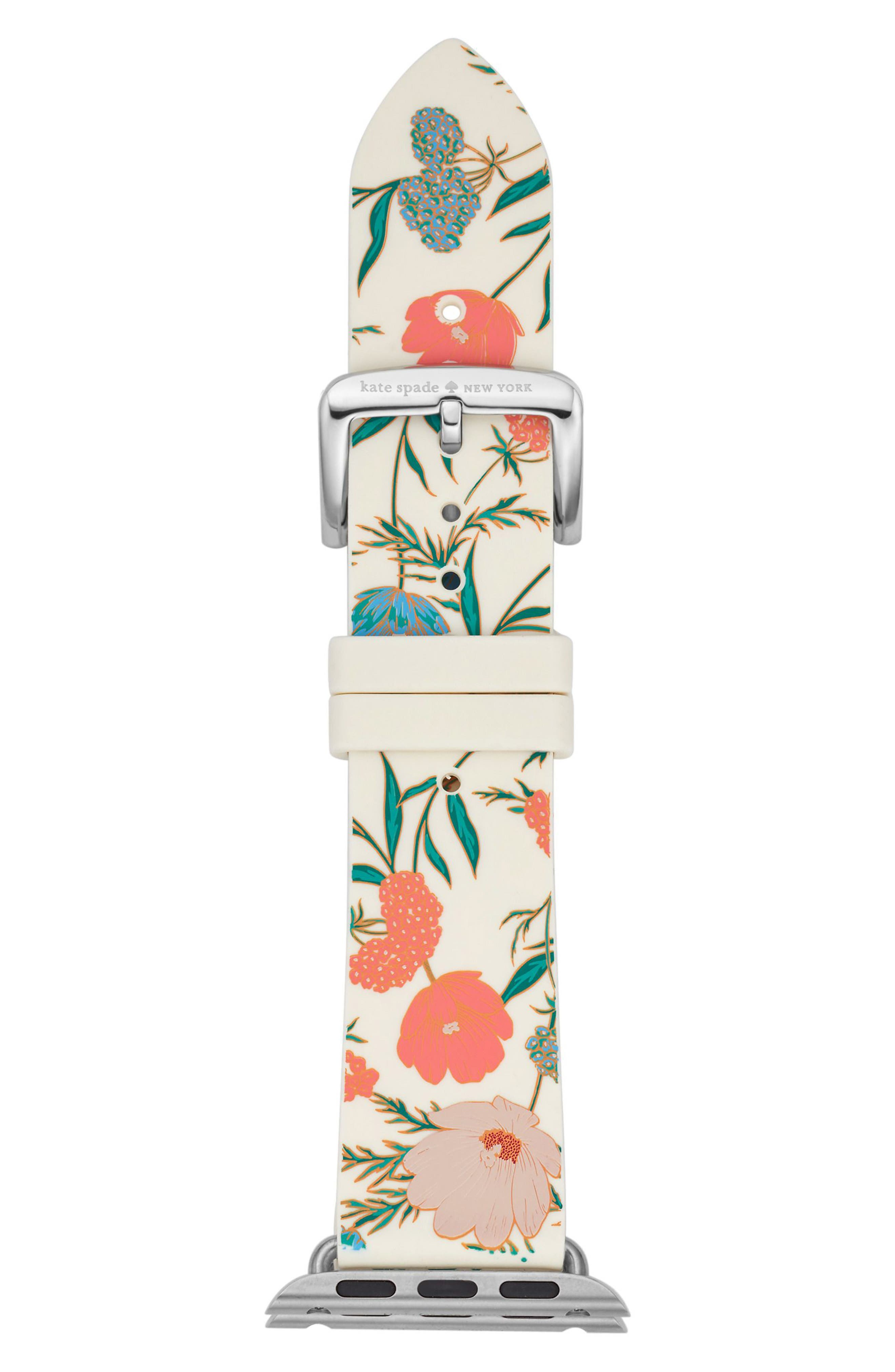 Apple Watch strap, 25mm,                             Main thumbnail 1, color,                             Gold/ Green/ Pink