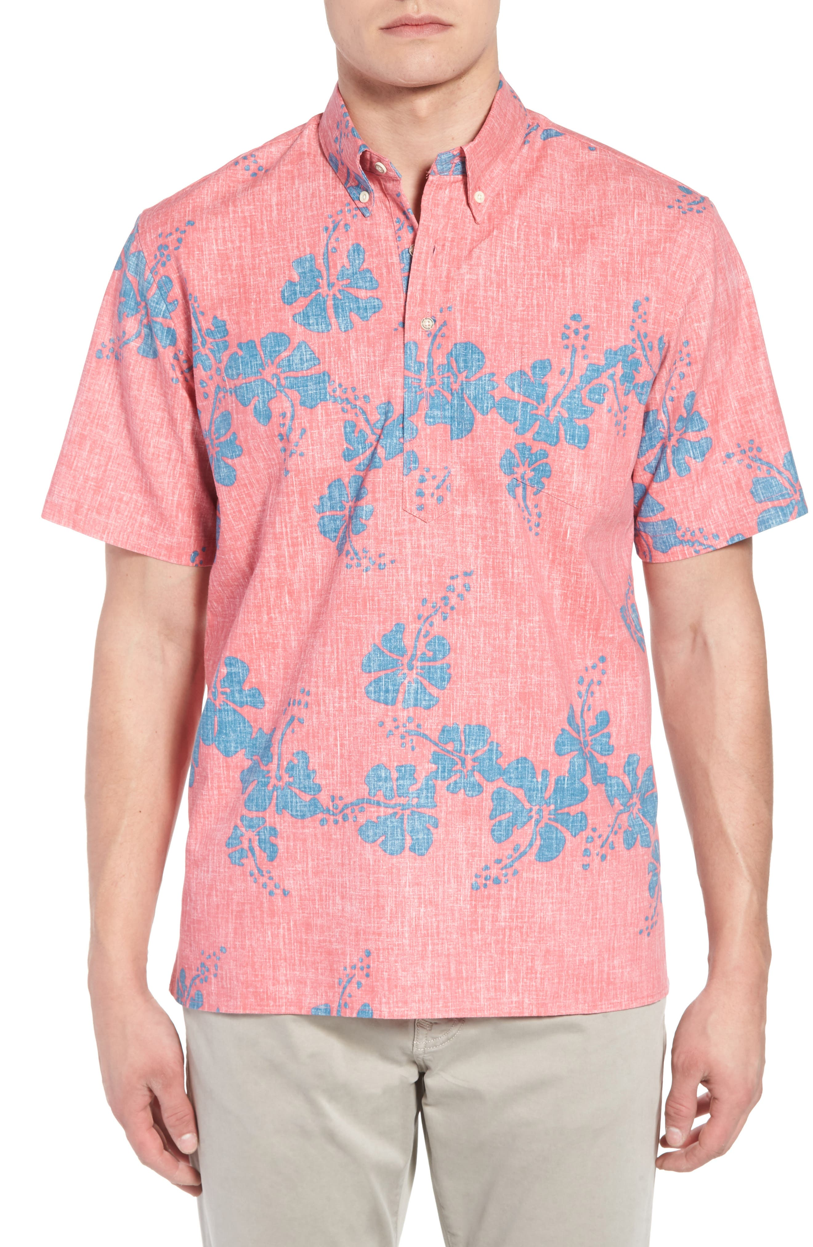 50th State Button Down Polo,                         Main,                         color, Pink