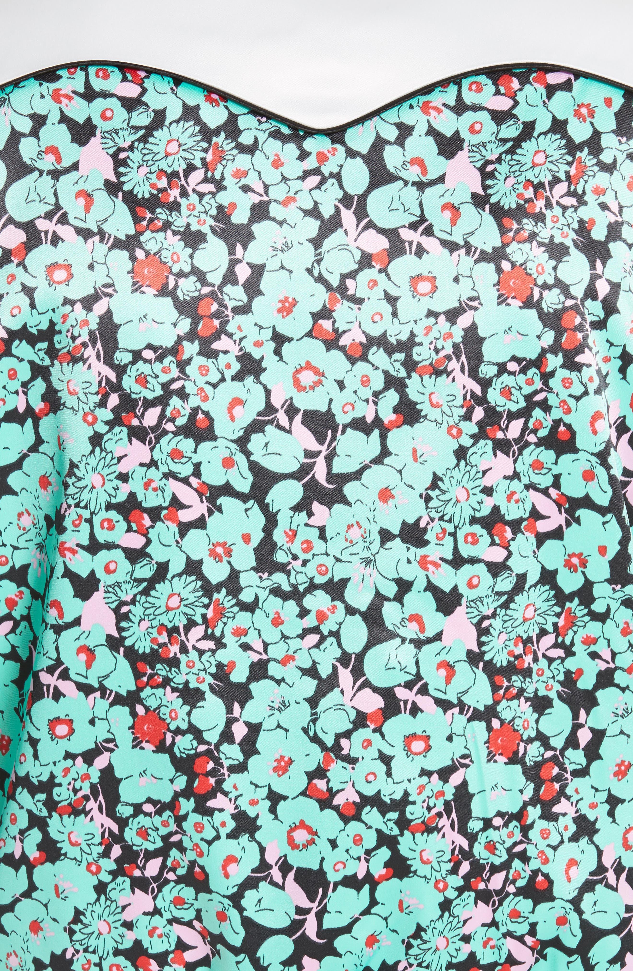 Bert Floral Bomber Jacket,                             Alternate thumbnail 5, color,                             Printed
