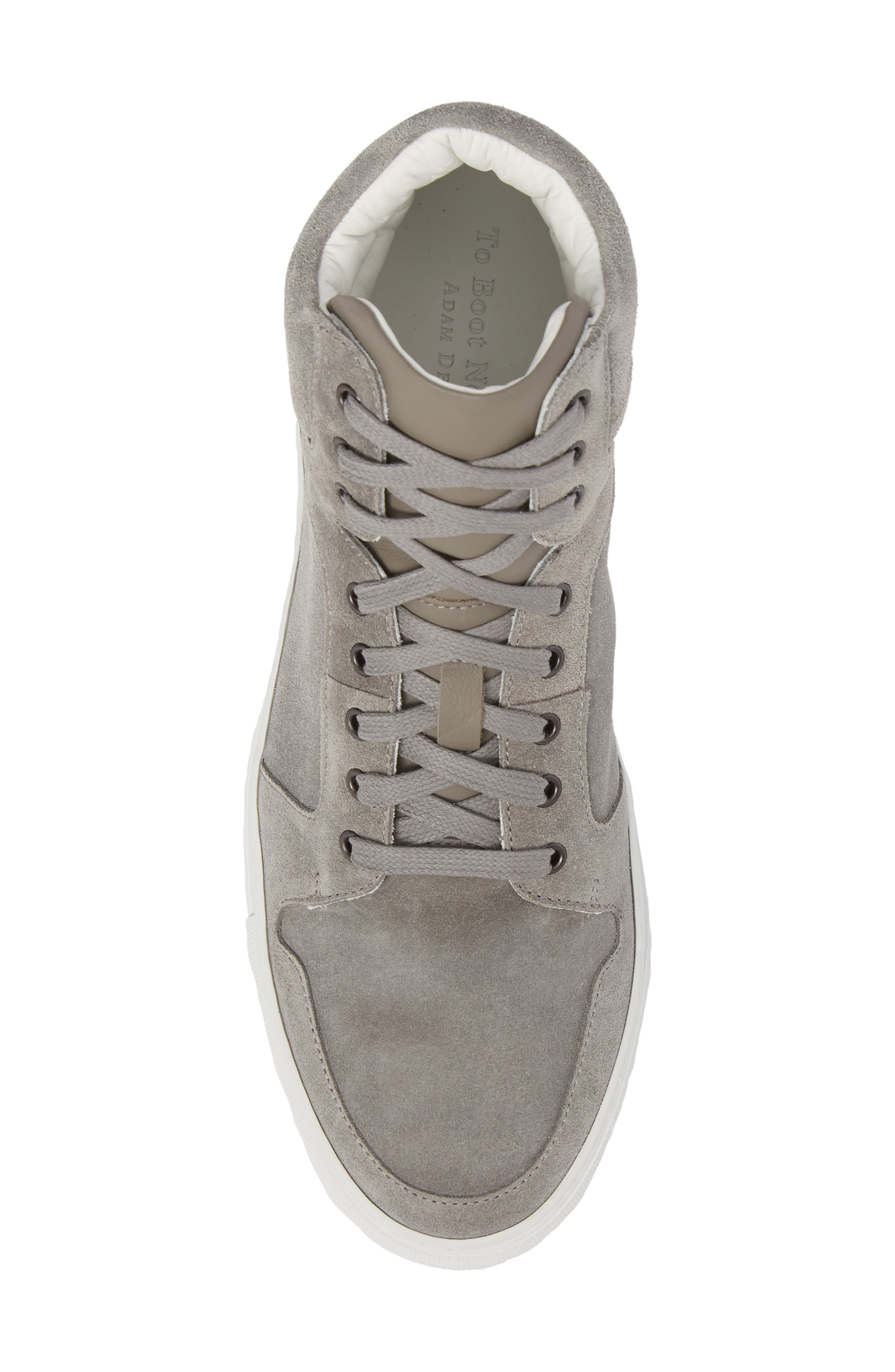 Belmont High Top Sneaker,                             Alternate thumbnail 5, color,                             Grey Suede