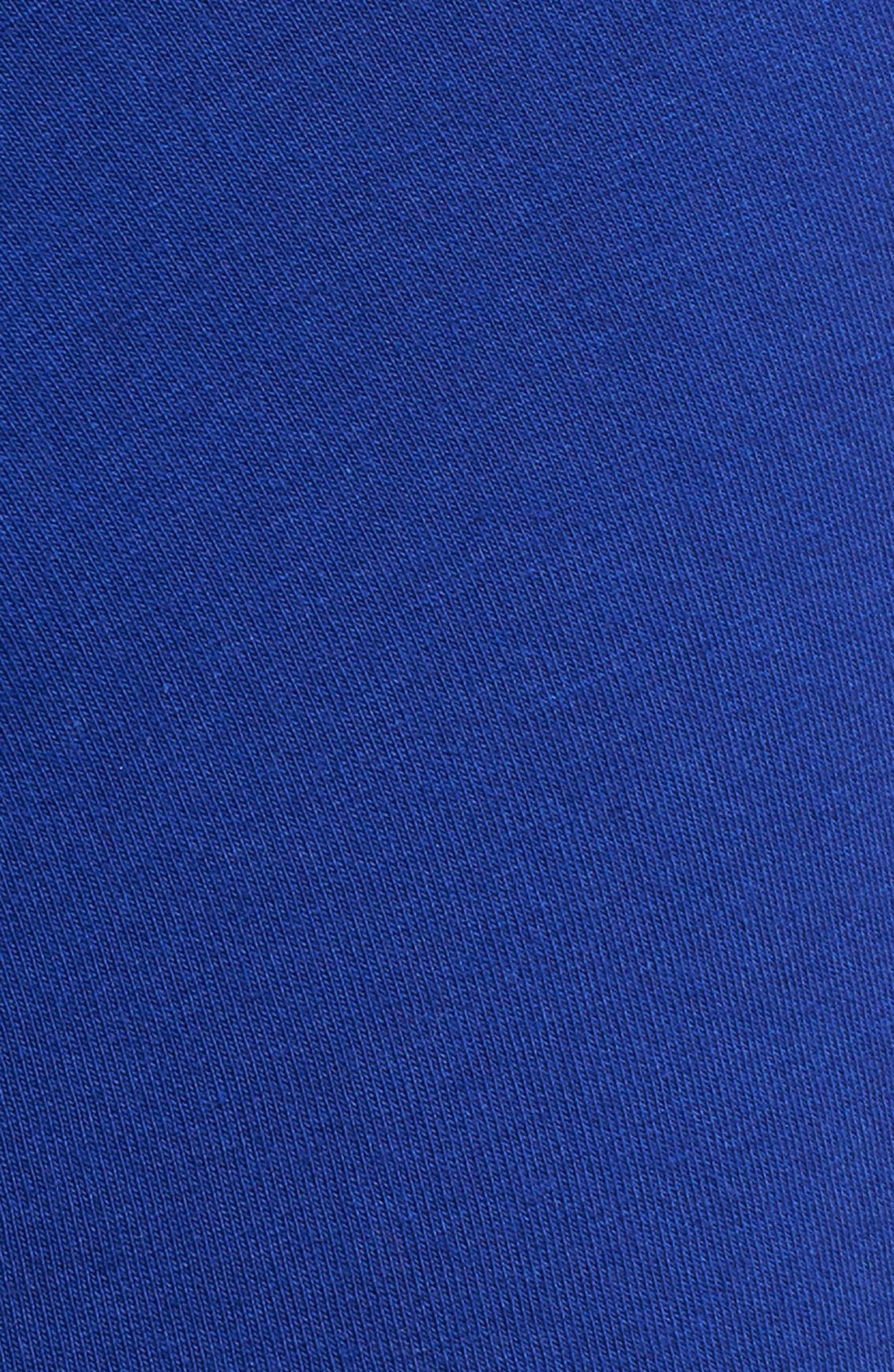 Versace Collection Low Rise Trunks,                             Alternate thumbnail 5, color,                             Bluette/ Gold