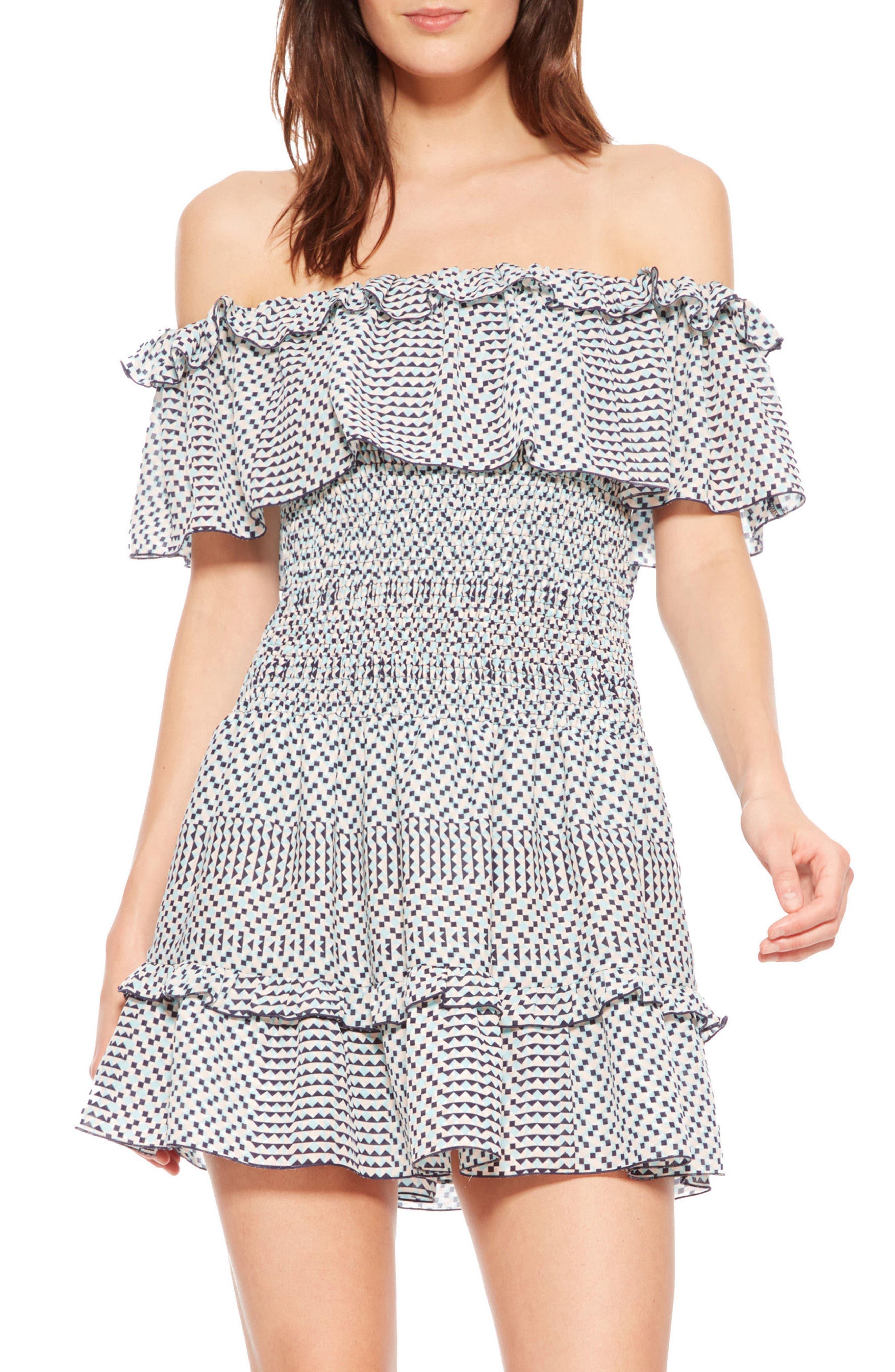 Hali Off the Shoulder Dress,                         Main,                         color, Isadora
