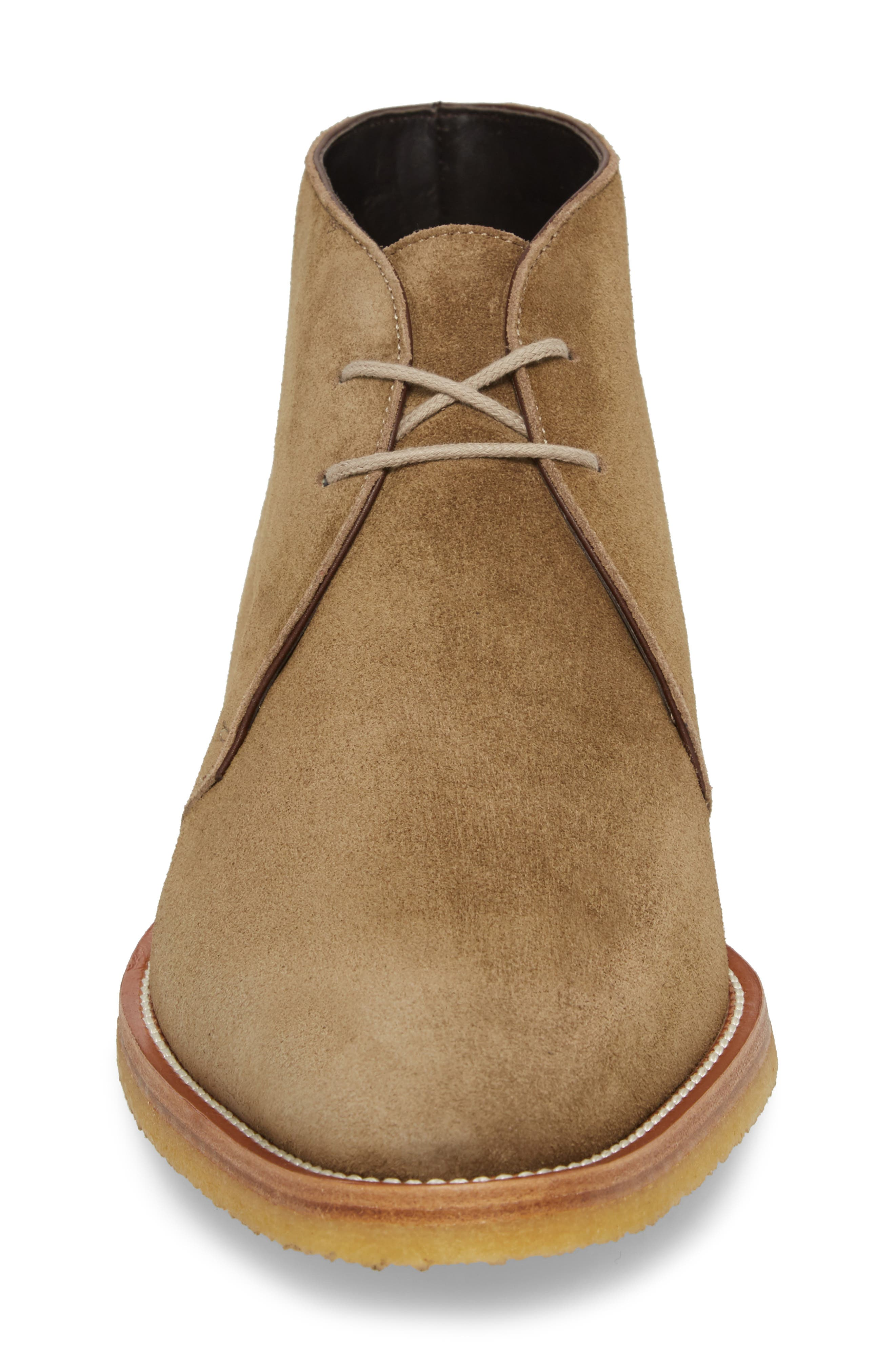 Banker Chukka Boot,                             Alternate thumbnail 4, color,                             Taupe Suede