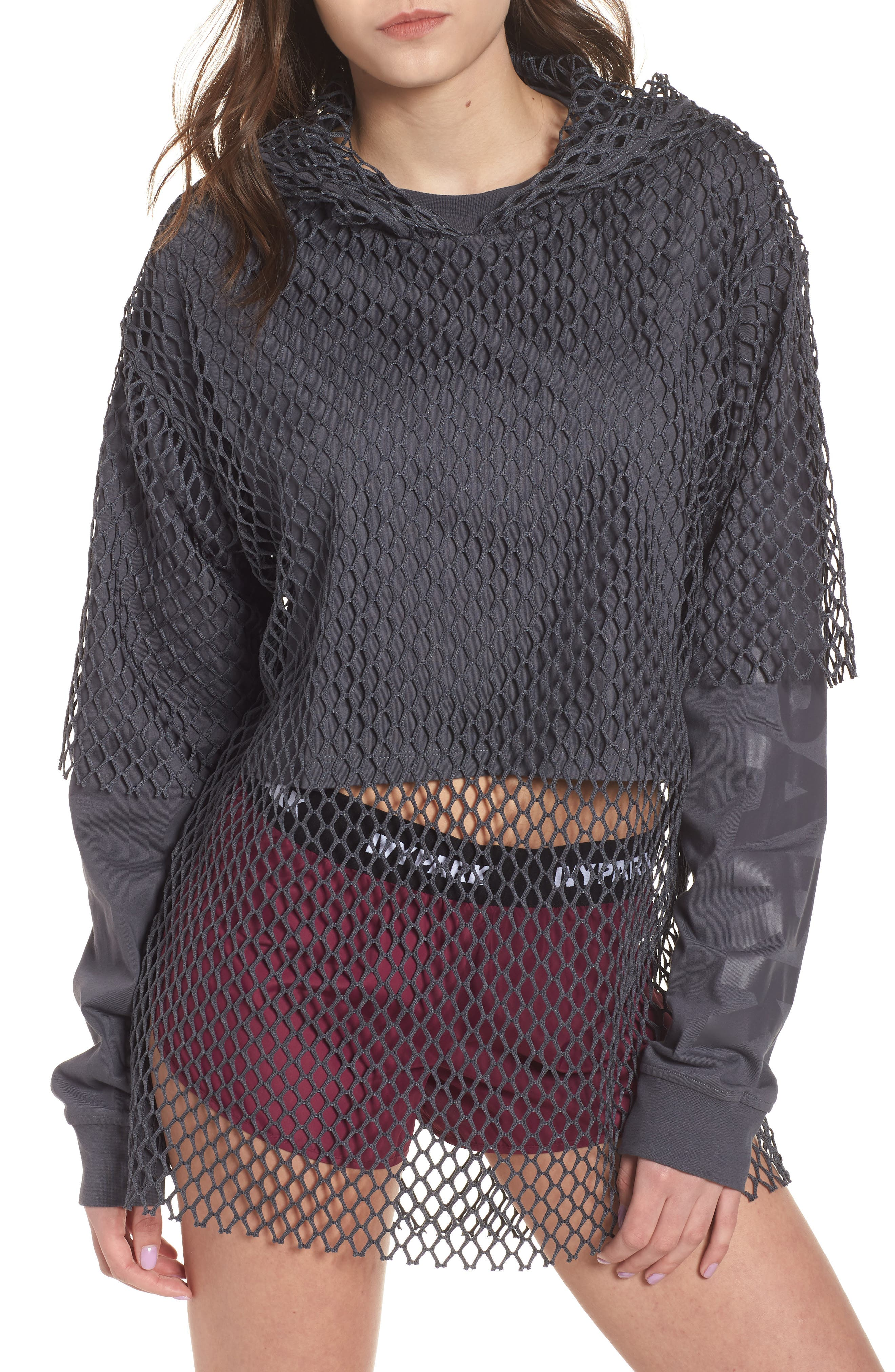 IVY PARK® Double Layer Mesh Hoodie