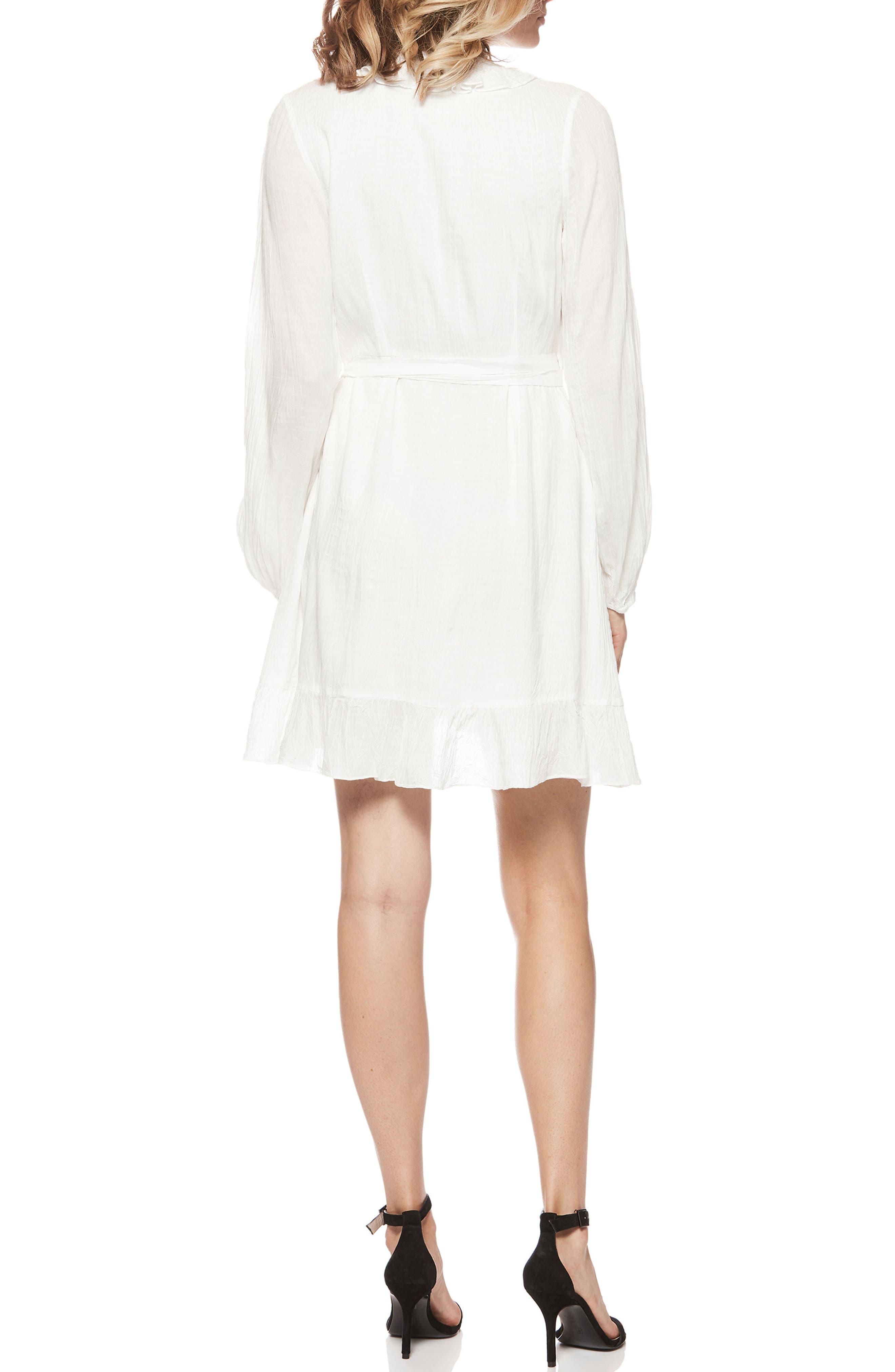 Shawna Wrap Dress,                             Alternate thumbnail 2, color,                             White