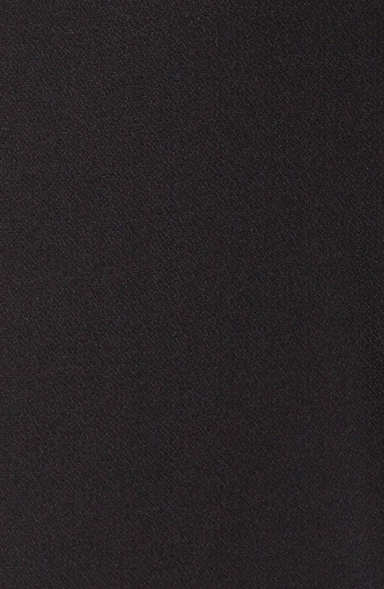 Tiered Ruffle Sleeve Crepe Jumpsuit,                             Alternate thumbnail 5, color,                             Black