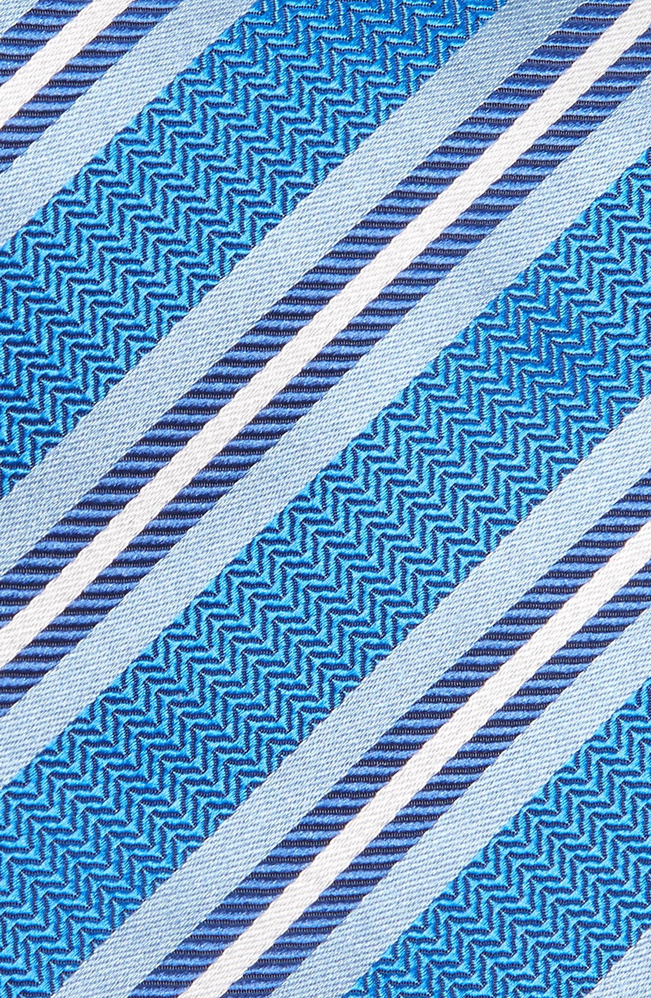 Stripe Silk Tie,                             Alternate thumbnail 2, color,                             Royal