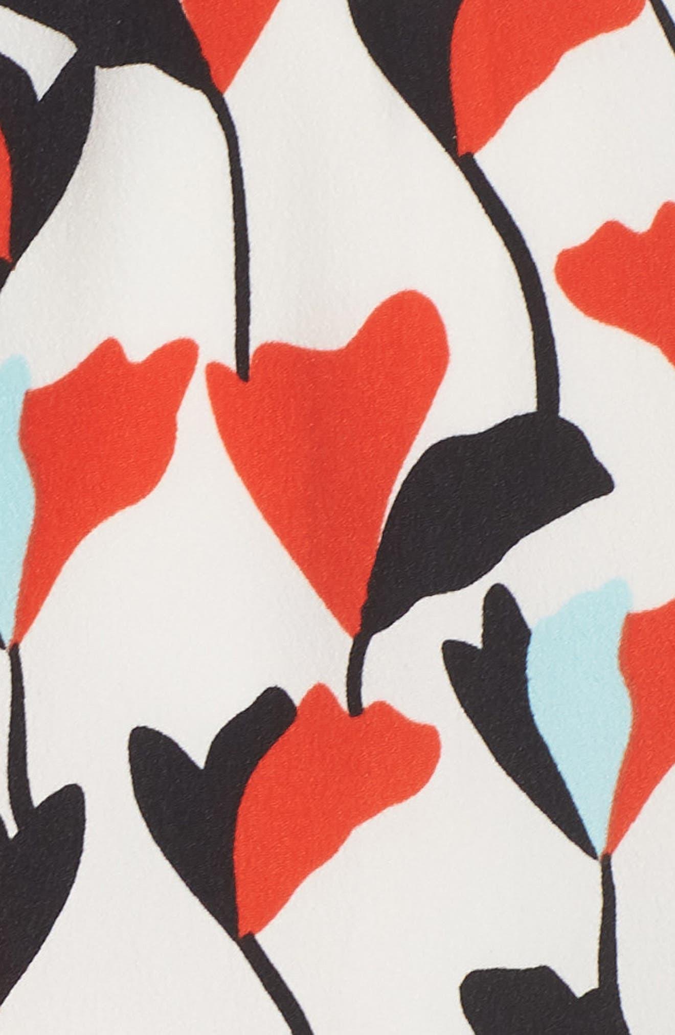 Floral Off the Shoulder Tie Waist Dress,                             Alternate thumbnail 6, color,                             Soft White/ Powder Blue