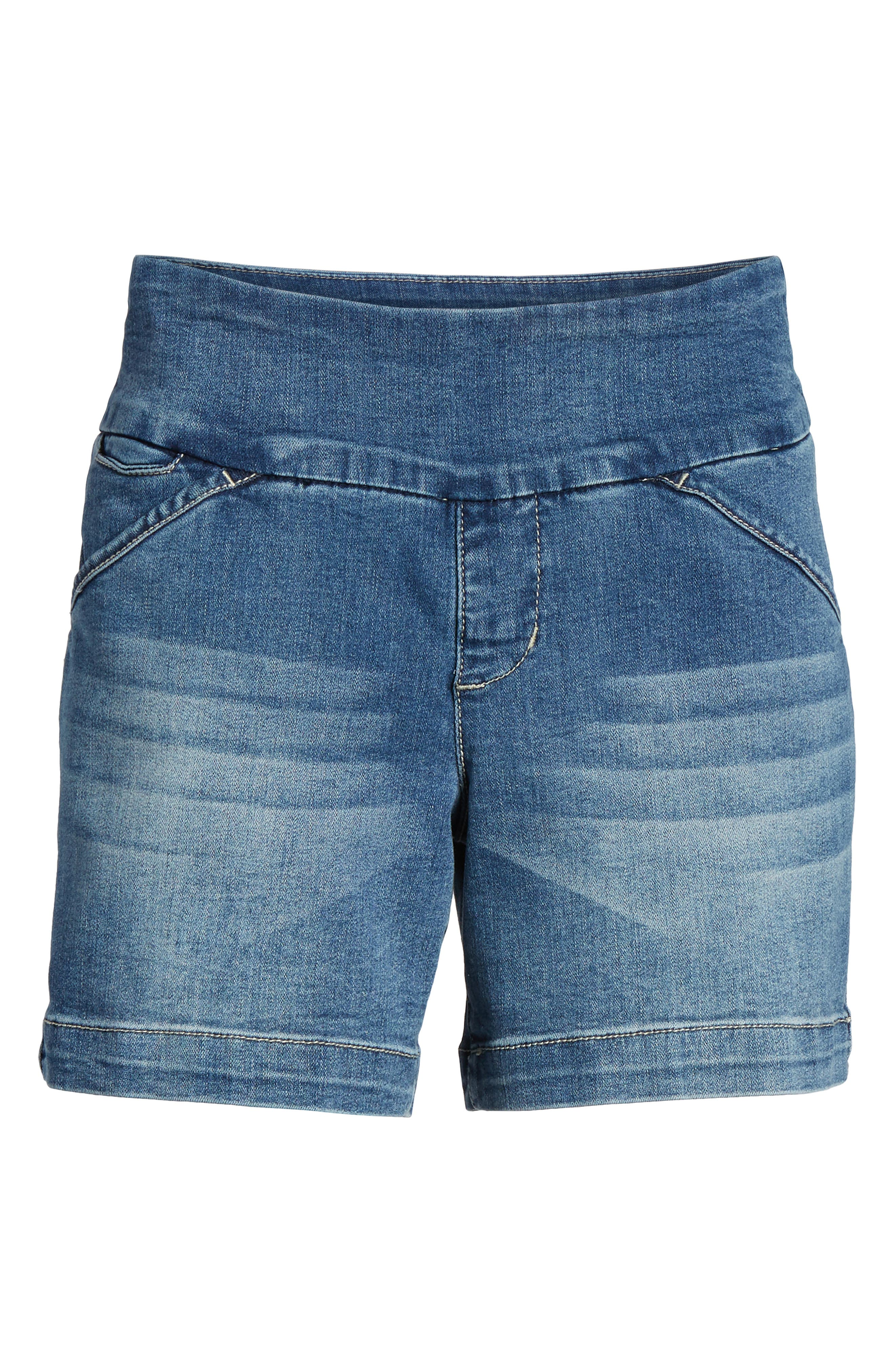 Ainsley 5 Denim Shorts,                             Alternate thumbnail 7, color,                             Med Indigo