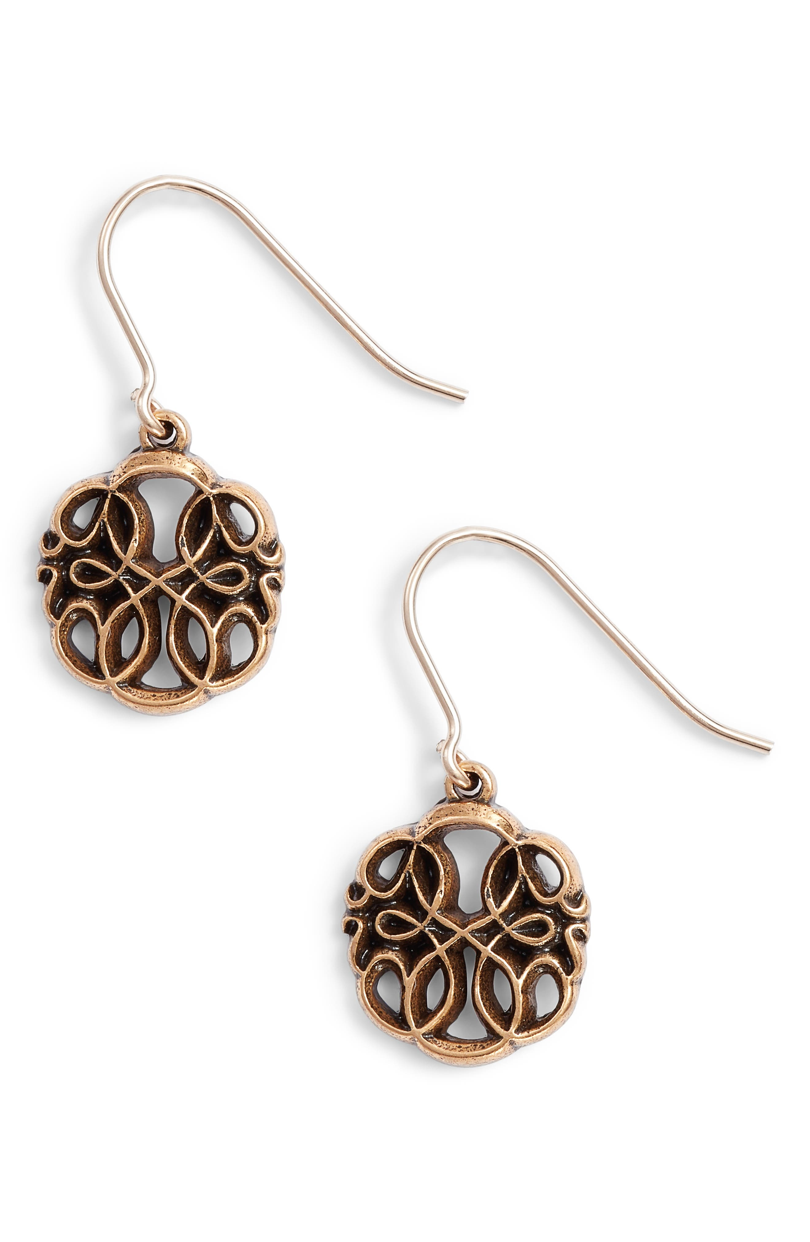 Path of Life Drop Earrings,                         Main,                         color, Gold