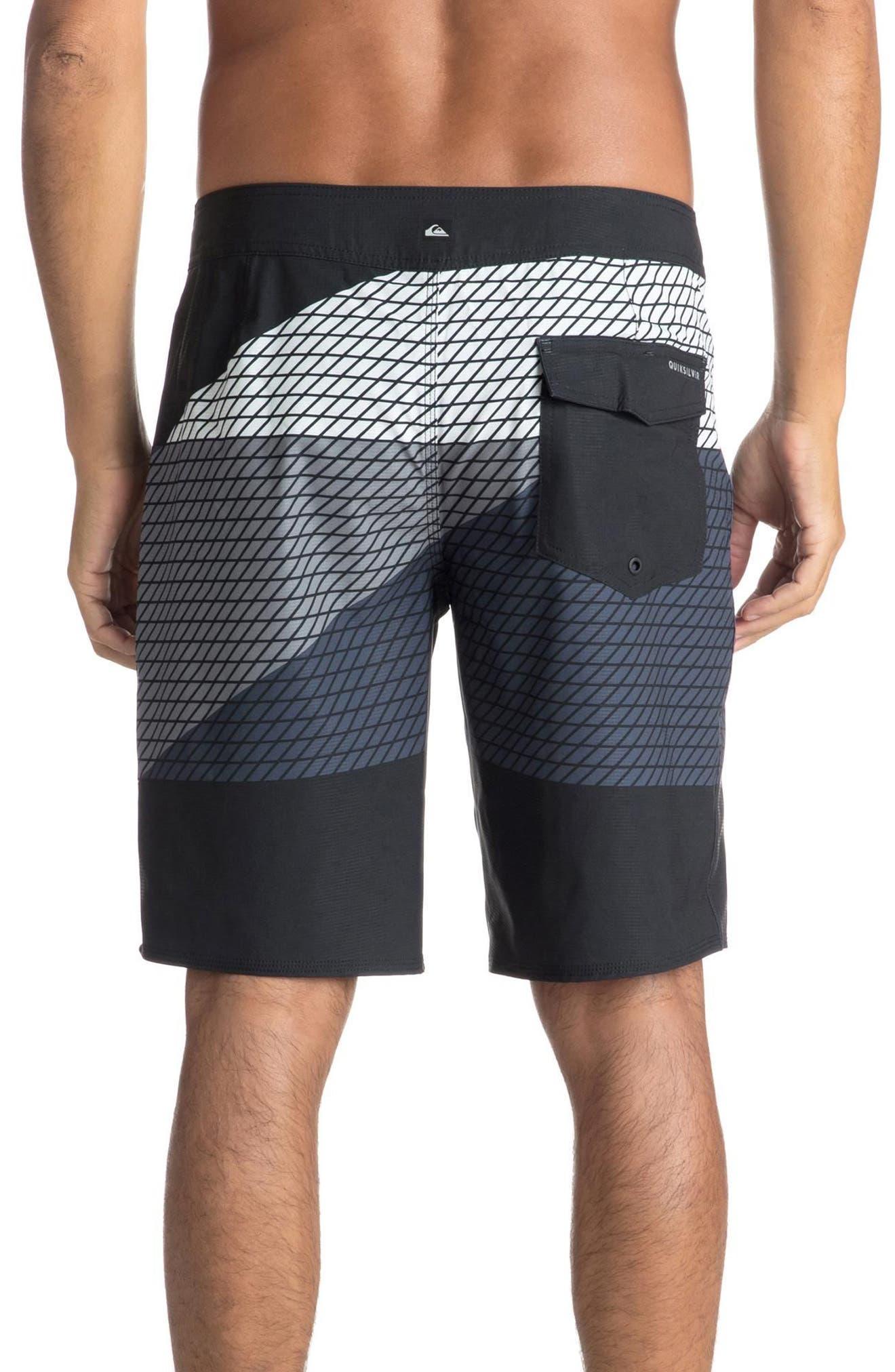 Highline Slash Board Shorts,                             Alternate thumbnail 2, color,                             Black