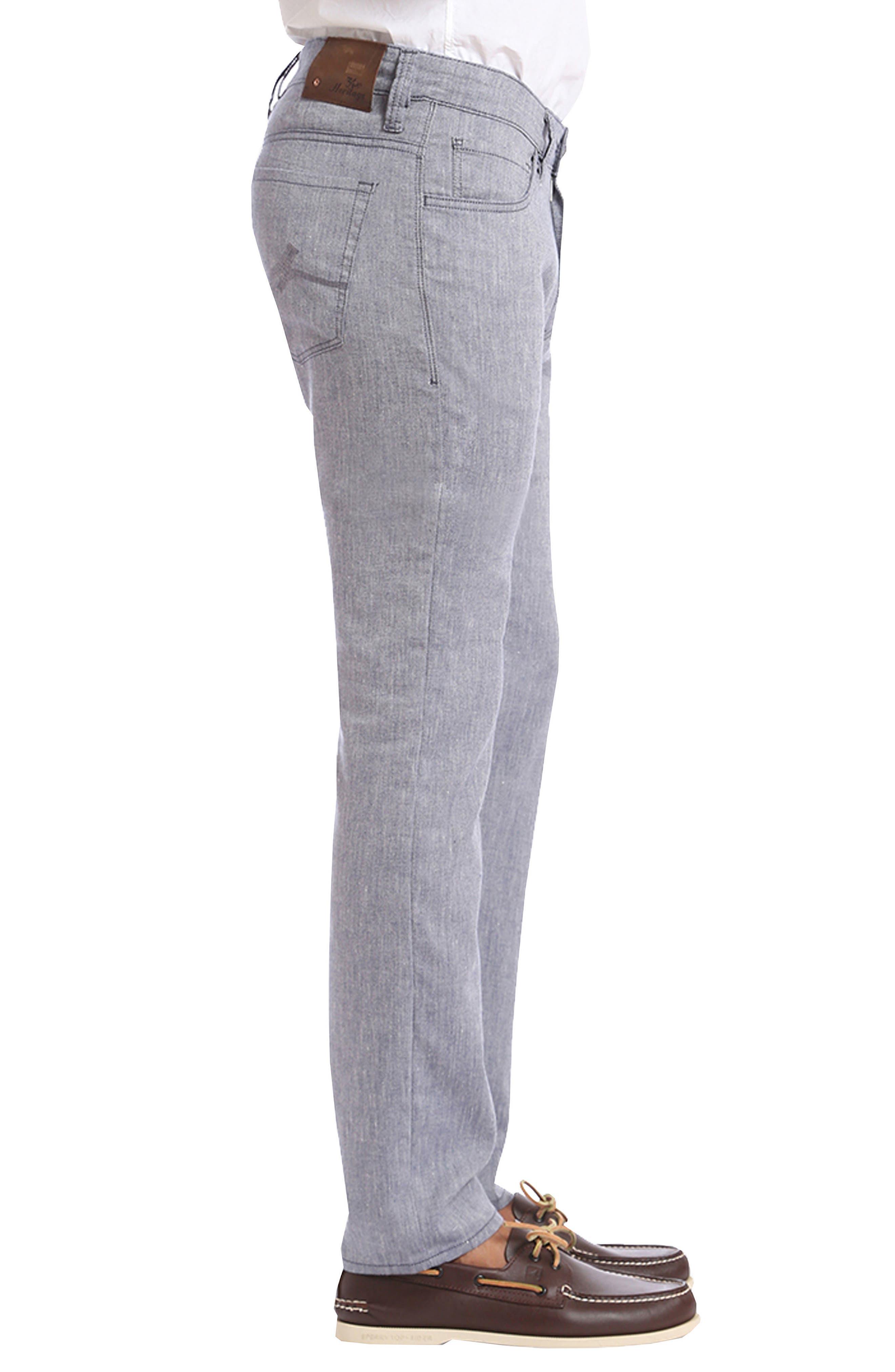 Courage Straight Leg Jeans,                             Alternate thumbnail 3, color,                             Indigo Textured