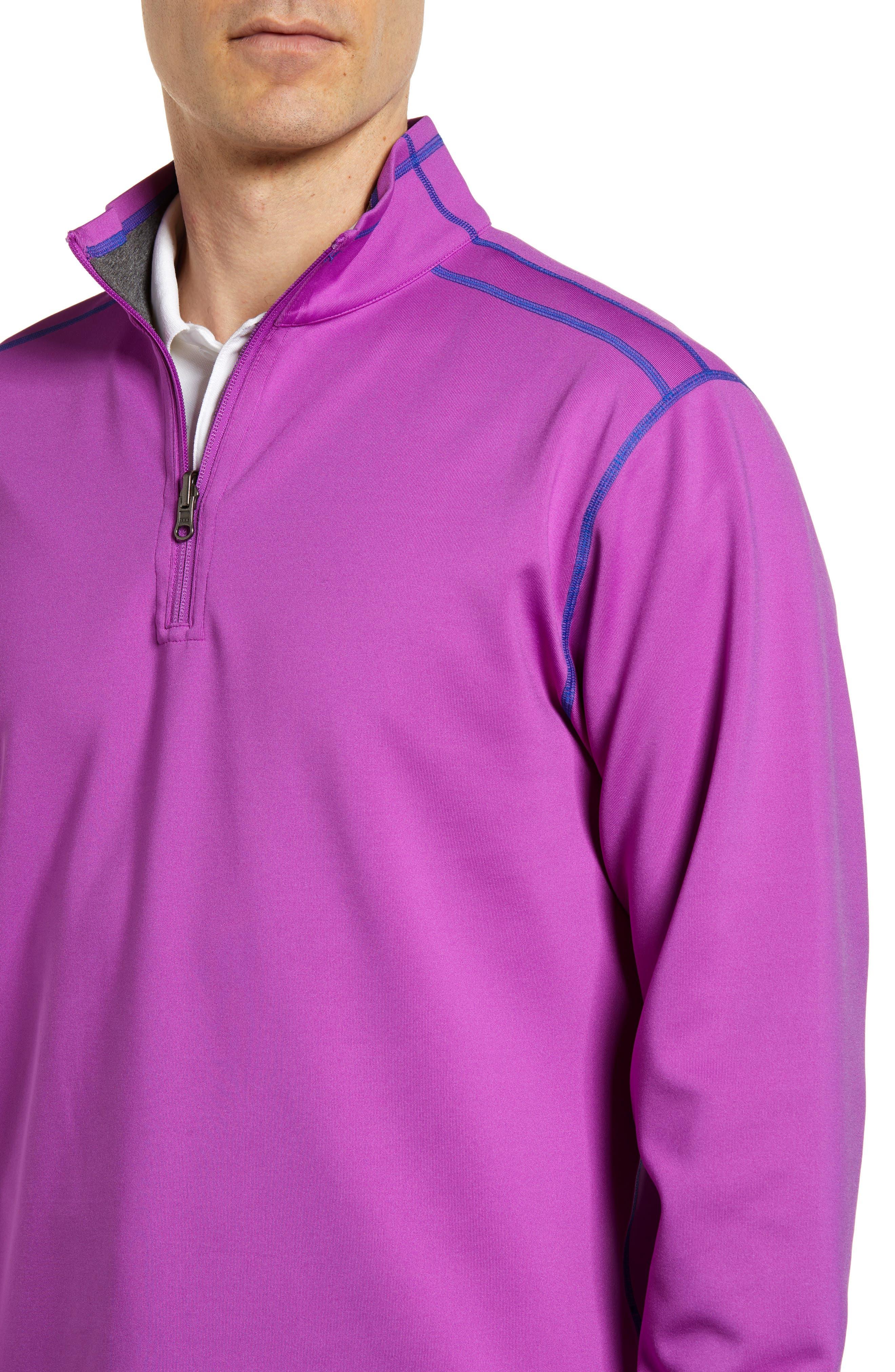 Evergreen Reversible Quarter Zip Pullover,                             Alternate thumbnail 4, color,                             Magnetic