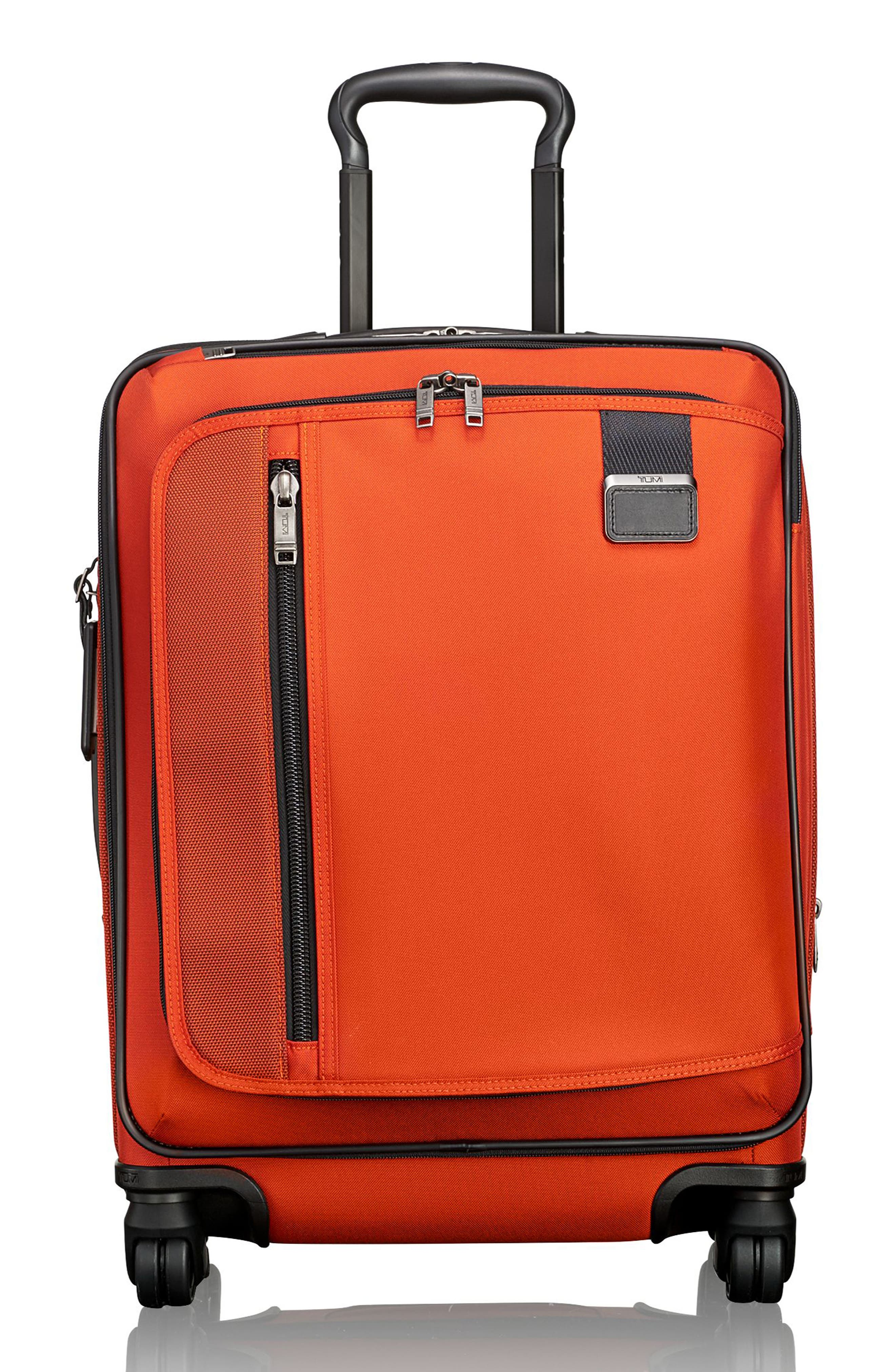 Merge - Continental Expandable Rolling Carry-On,                         Main,                         color, Sunset Red