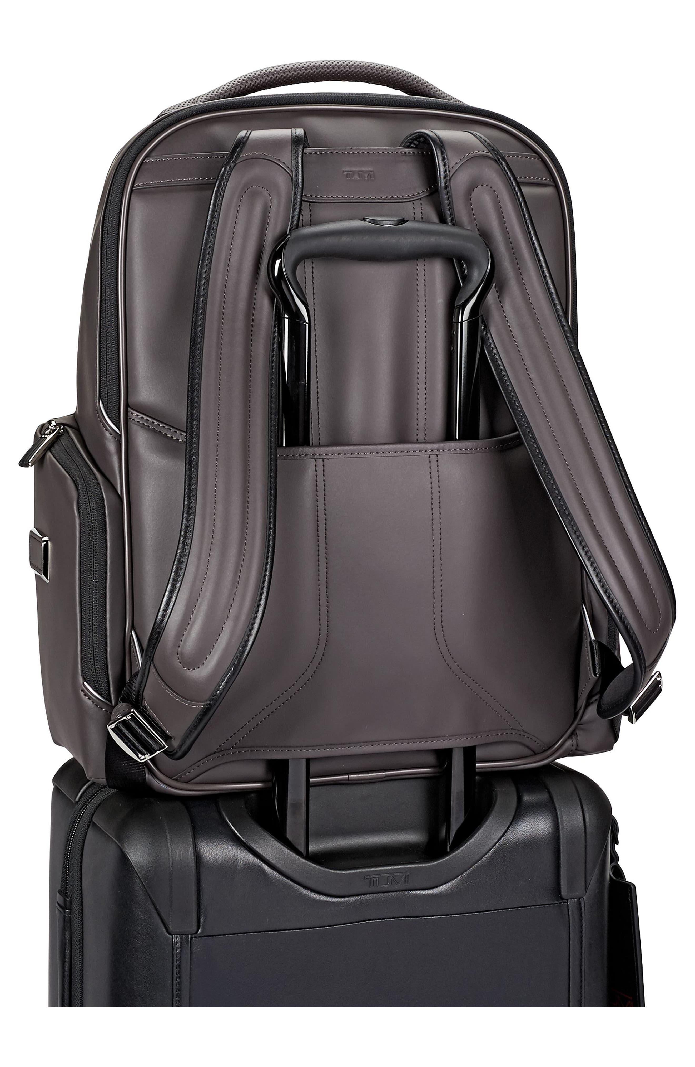 Arrivé - Bradley Leather Backpack,                             Alternate thumbnail 3, color,                             Taupe