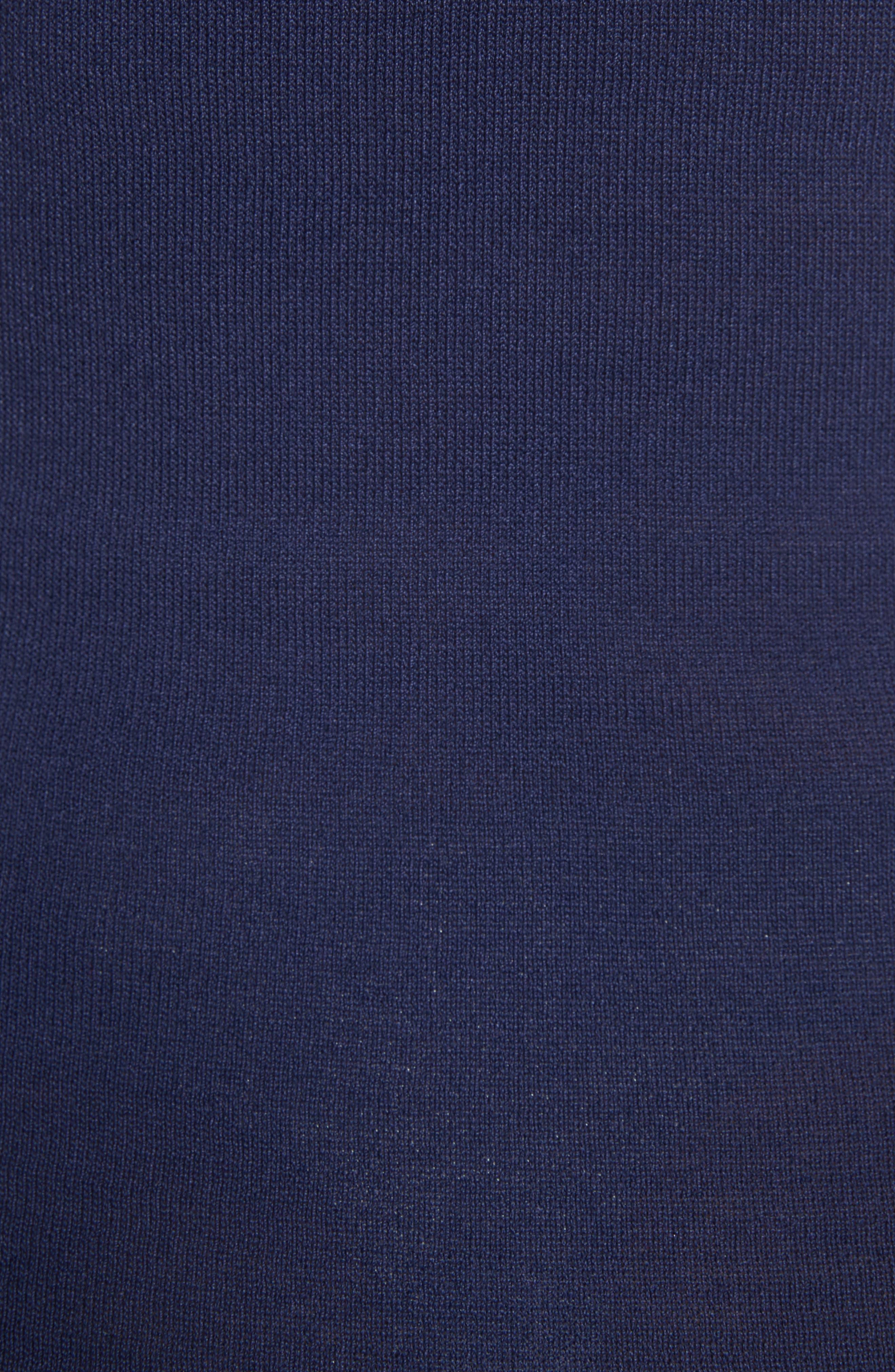 Chevron Knit Dress,                             Alternate thumbnail 5, color,                             Navy