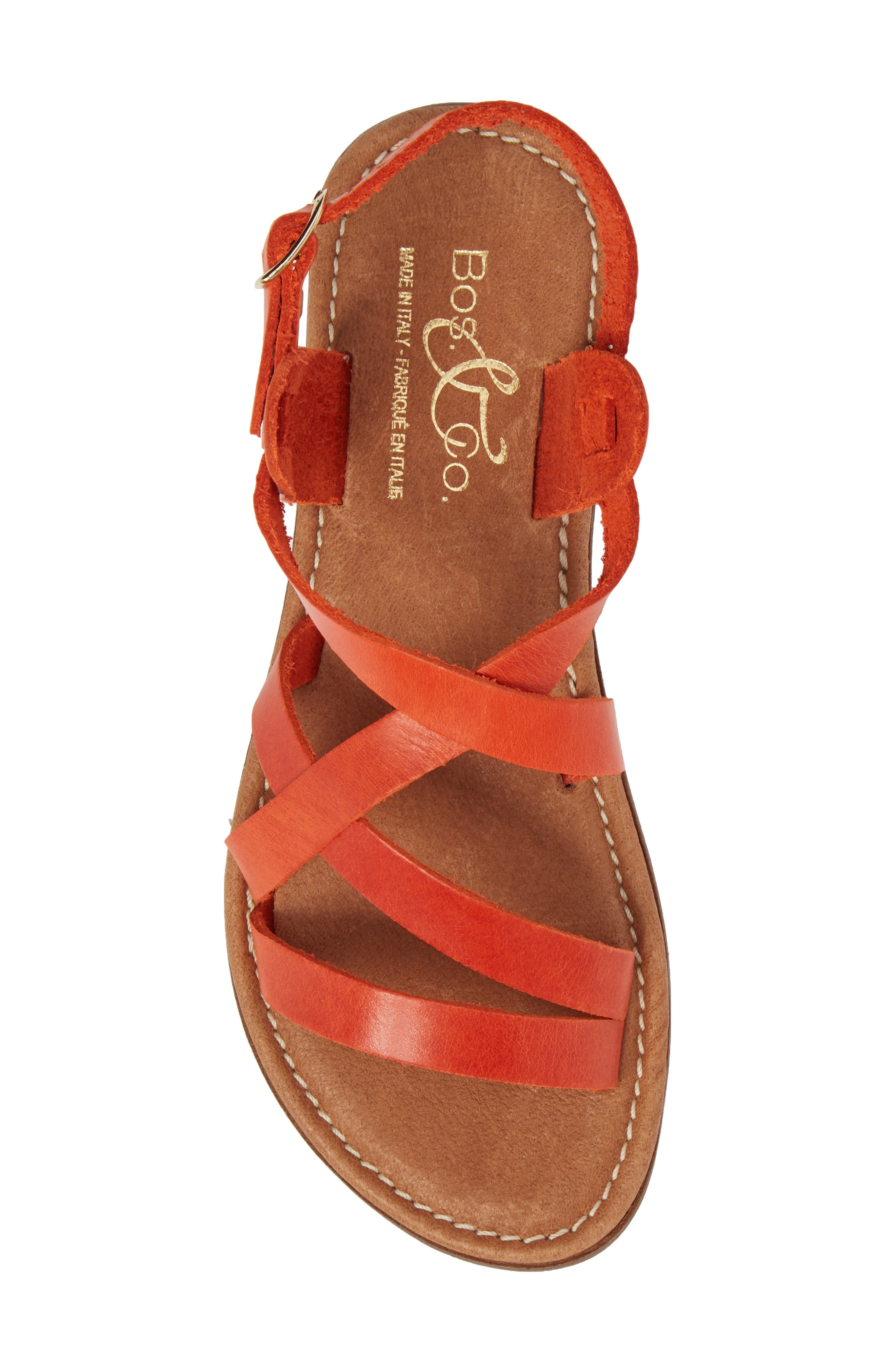 Ionna Sandal,                             Alternate thumbnail 5, color,                             Tangerine Leather