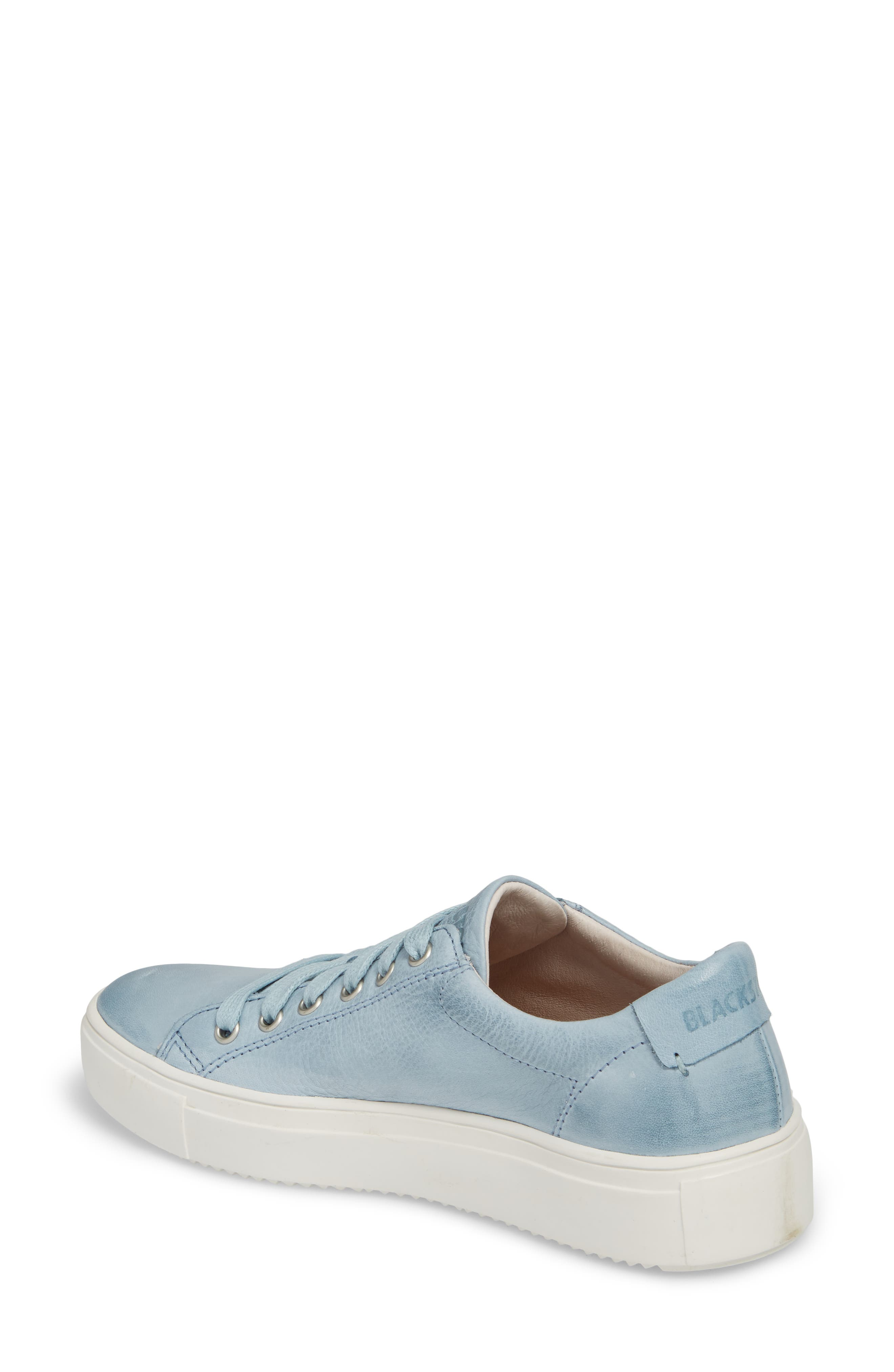 PL71 Low Top Sneaker,                             Alternate thumbnail 2, color,                             Sky Blue Leather