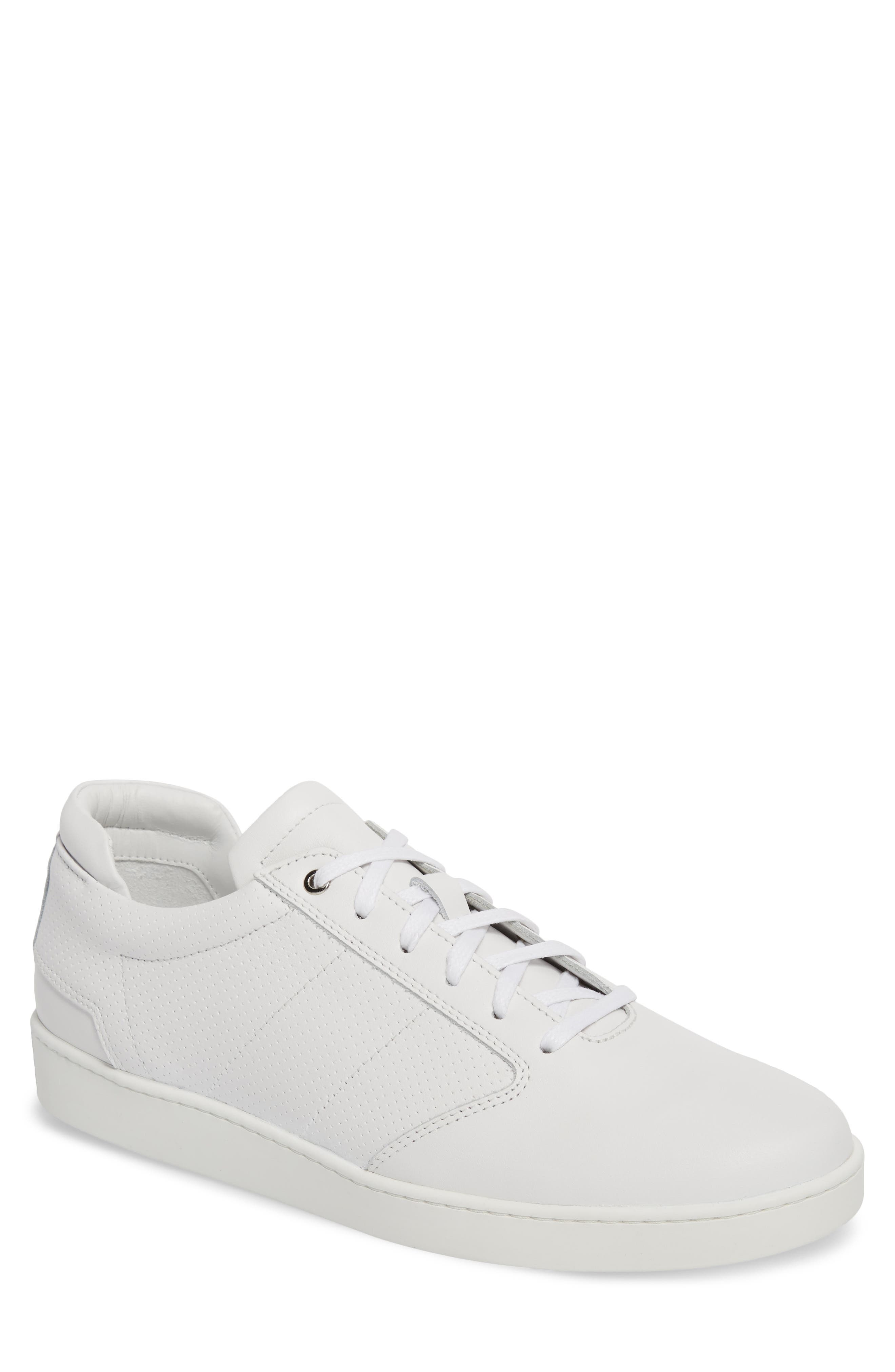 Lennon Sneaker,                             Main thumbnail 1, color,                             Multi Perforated White